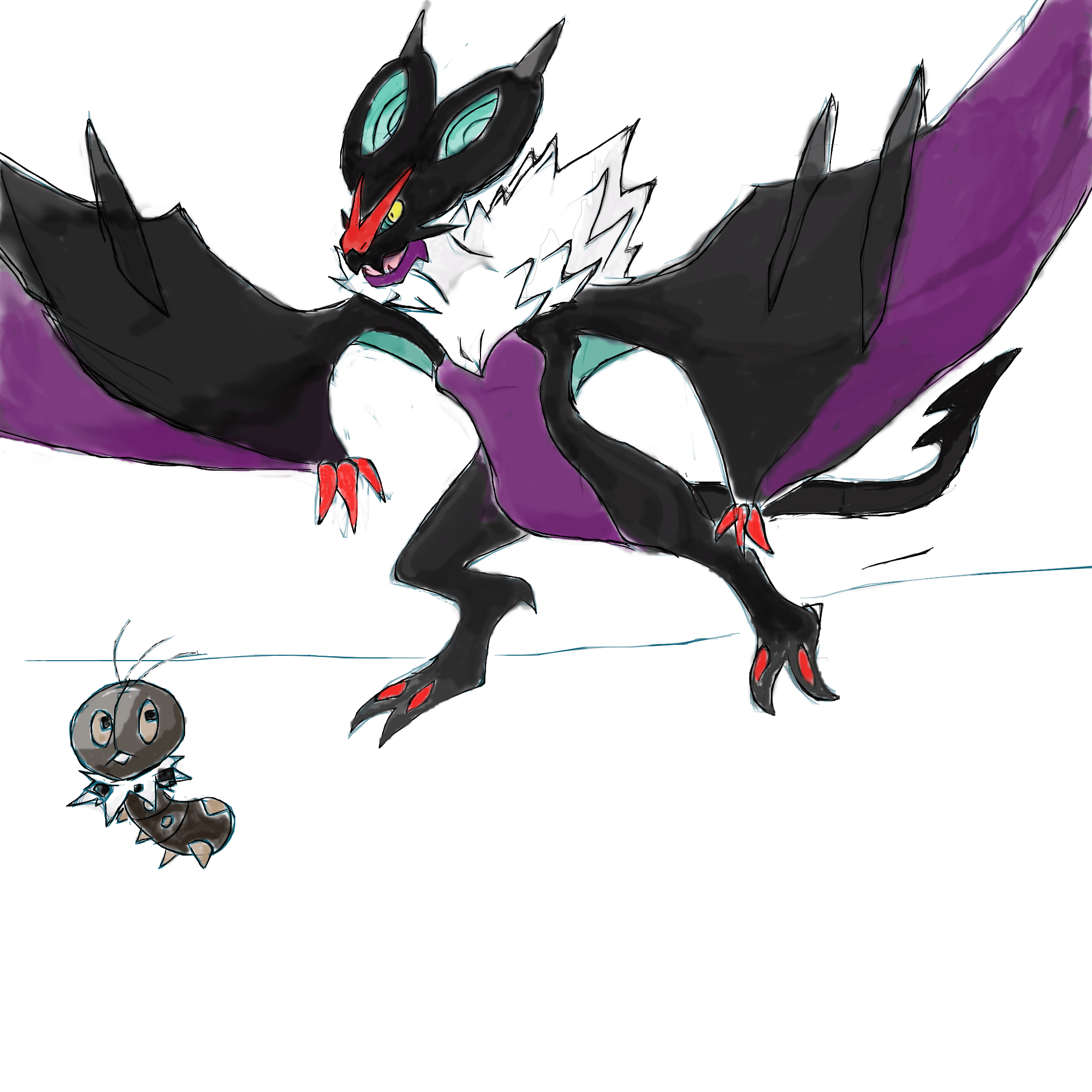 noivern and scatterbug by roblee96 on DeviantArt