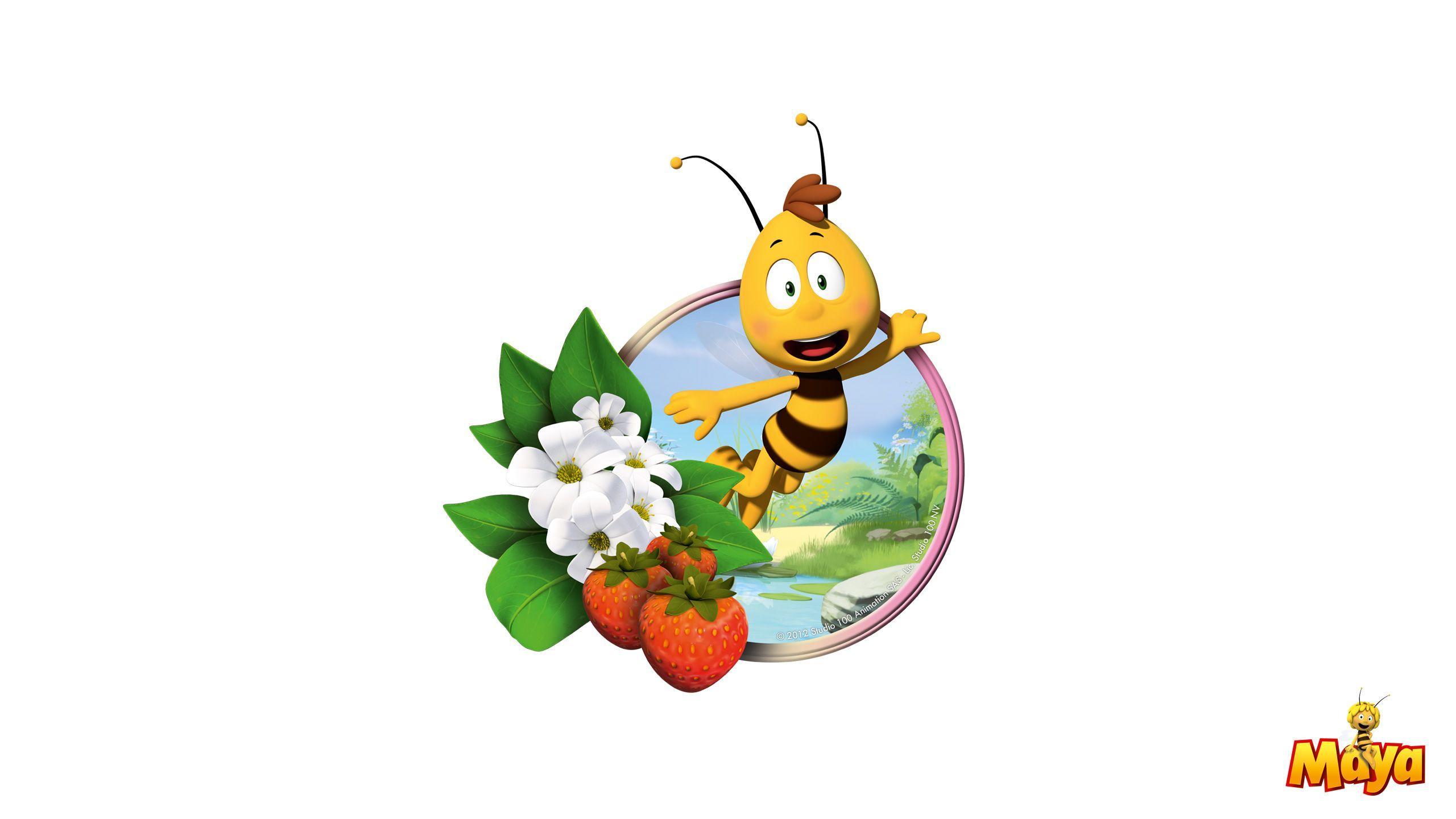 Картинки пчелка майя на цветке