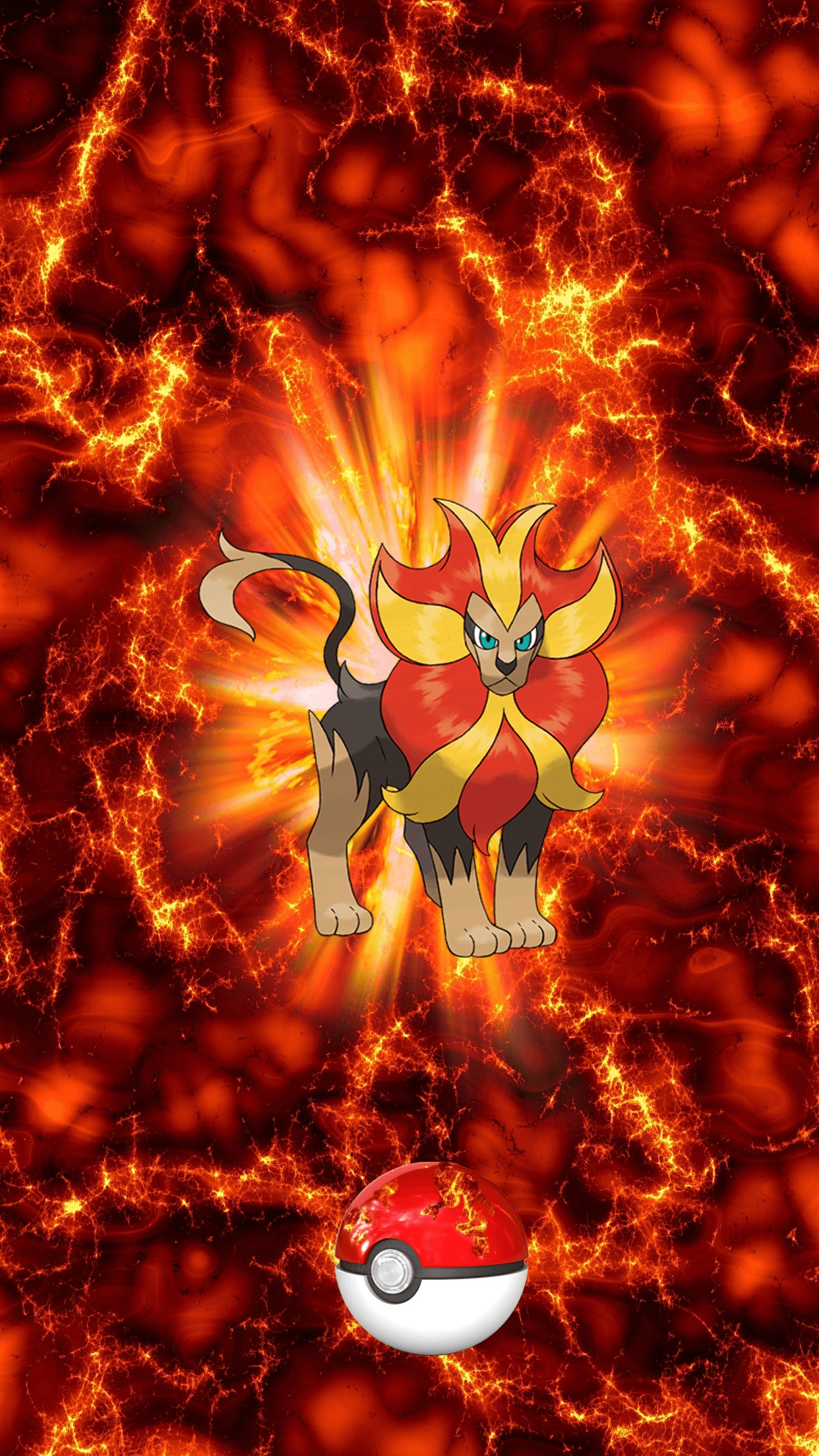 668 Fire Pokeball Pyroar 142 Kaenjishi 17 Litleo | Wallpaper