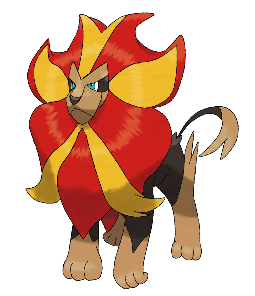 Pyroar (Male) by TheAngryAron on DeviantArt