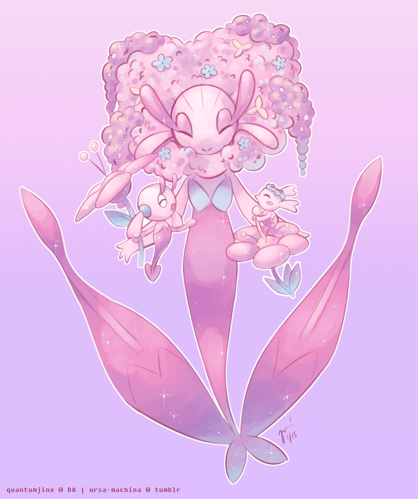 Flabébé, Floette, and Florges