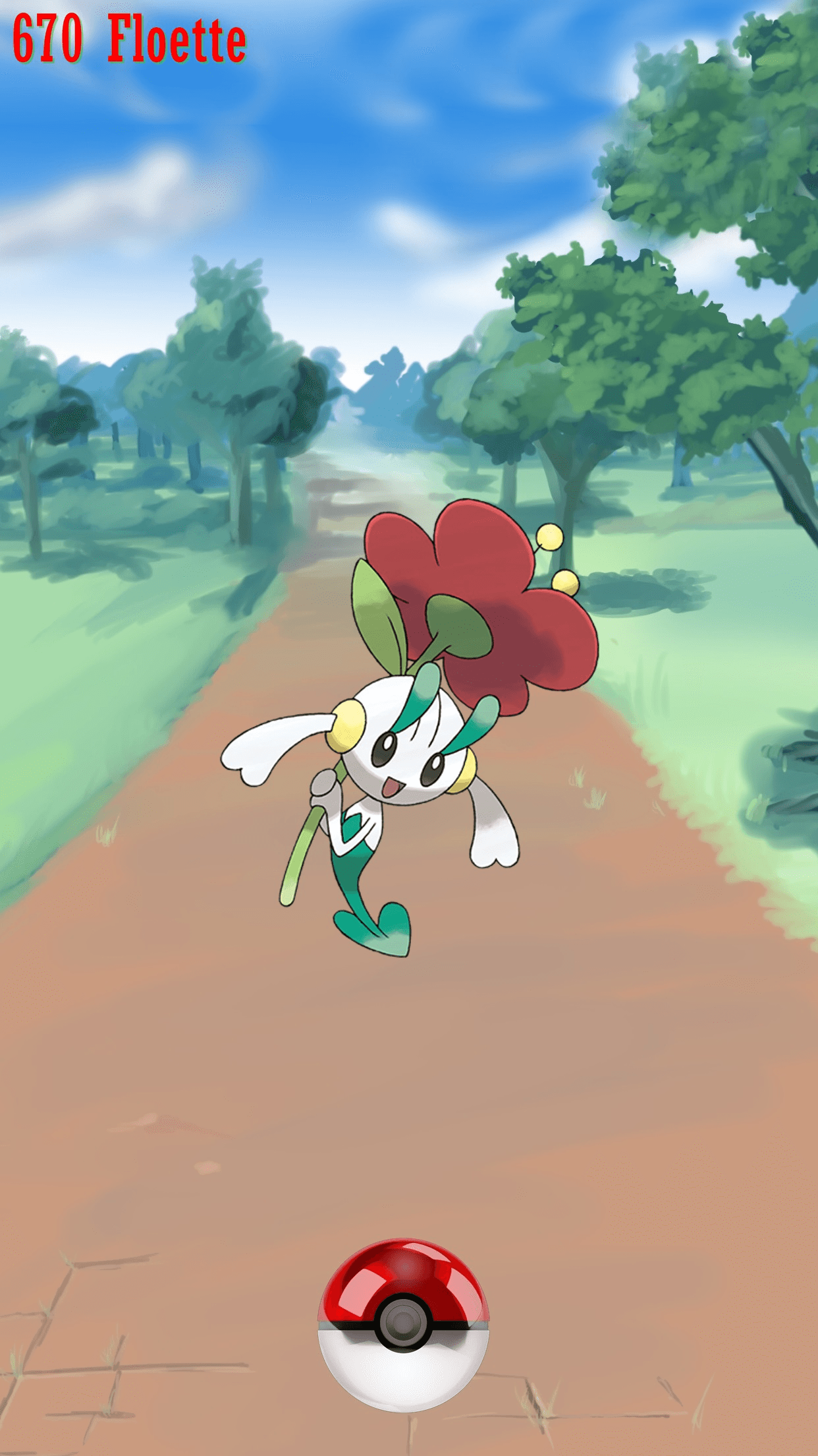 670 Street Pokeball Floette | Wallpaper