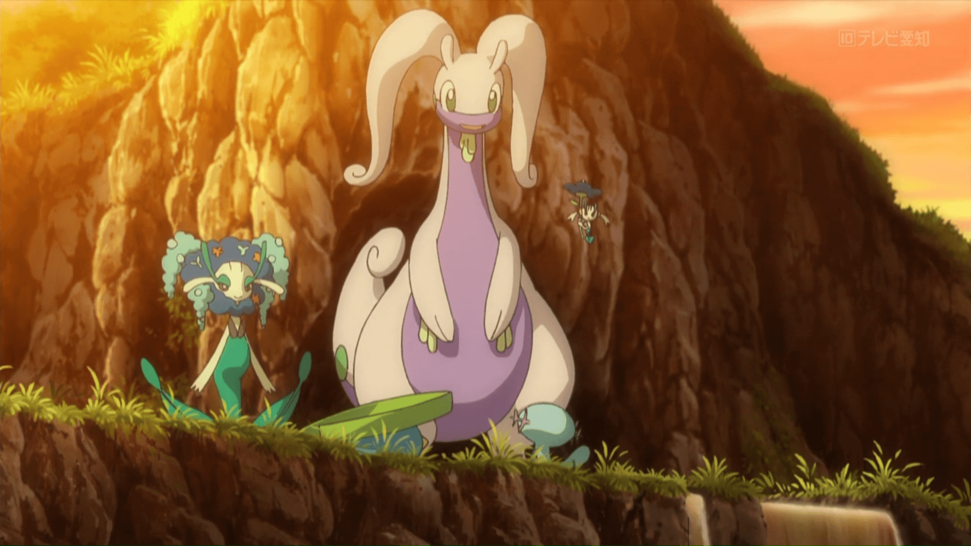 Image - Goodra, Florges and Floette in XY140.png | Pokémon Wiki ...