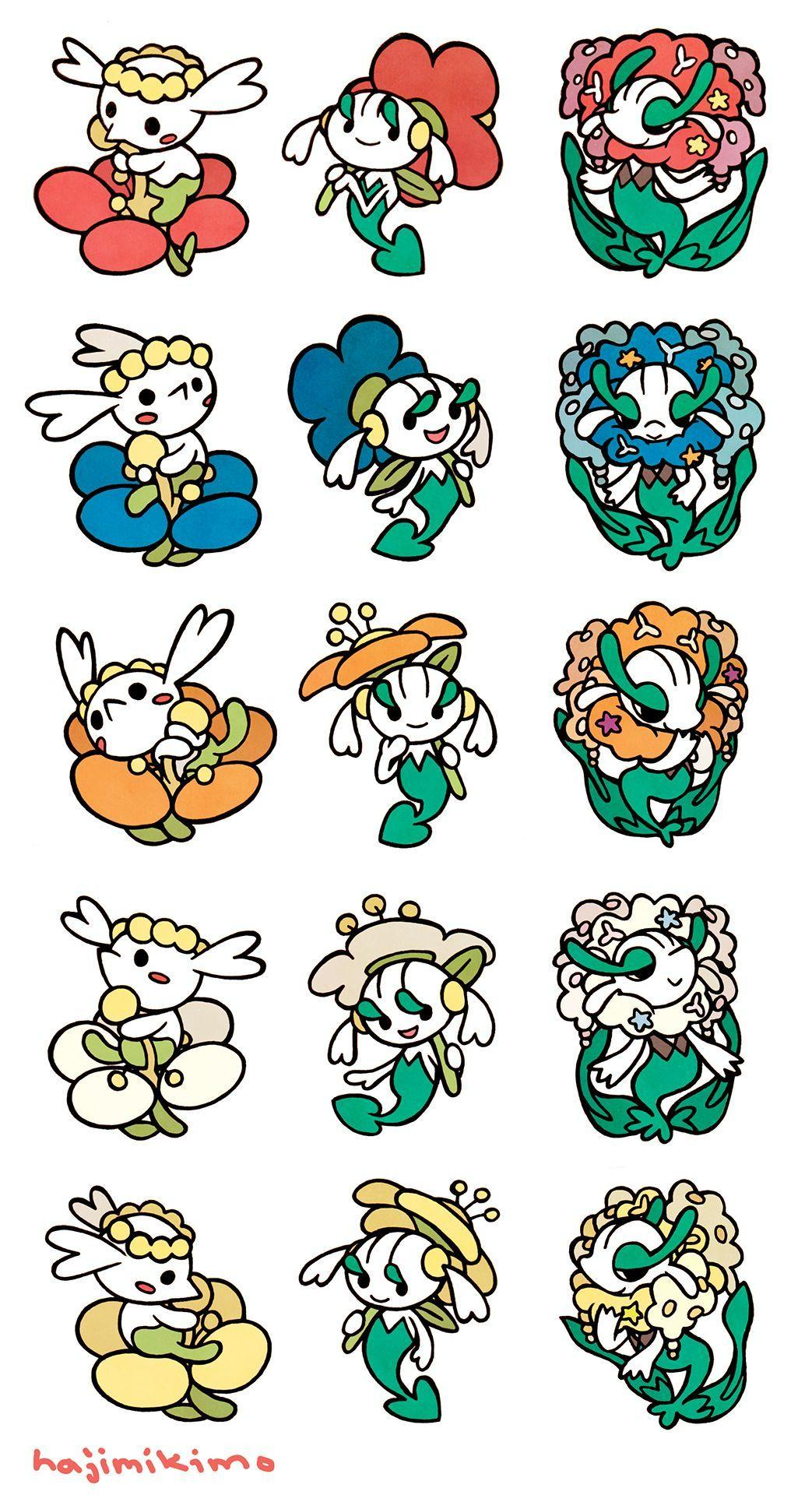 Flabebe, Floette and Floreges | Willow | Pinterest | Pokémon and ...