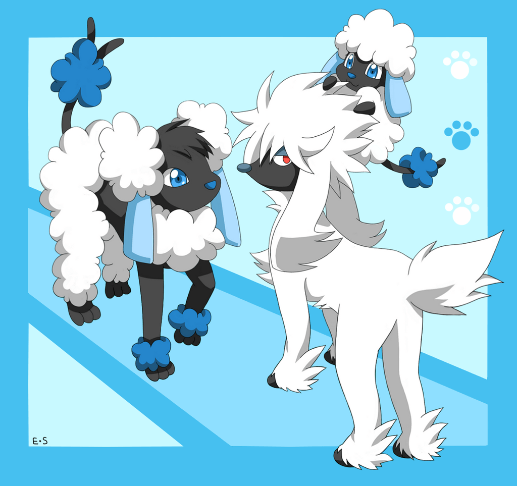 Furfrou, Spudle and Hydrudle by Endless-Rainfall on DeviantArt