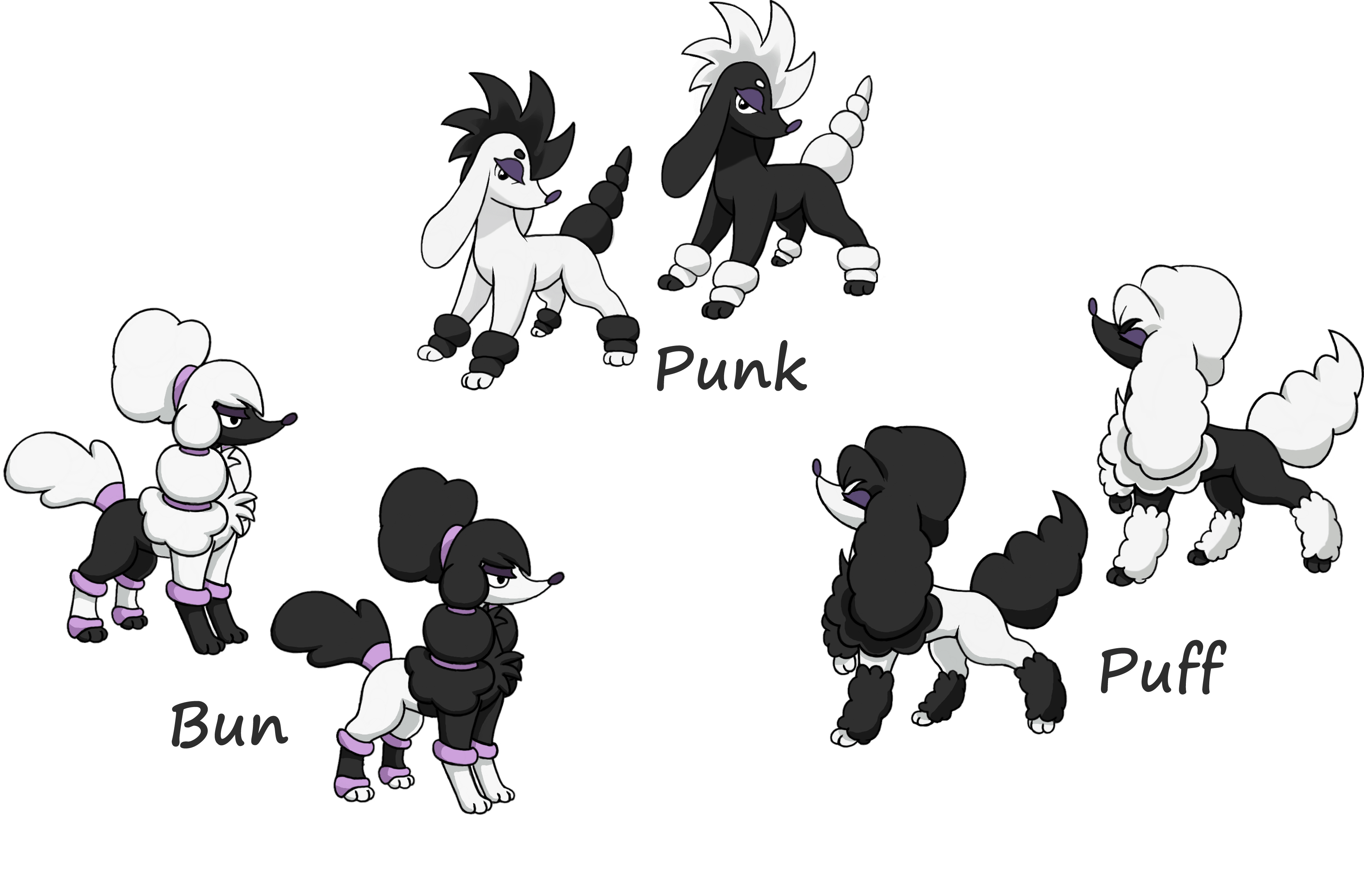 New Furfrou trims I made up by Bman-64 on DeviantArt