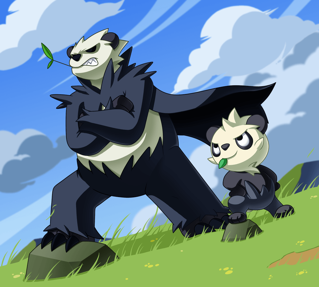 Pokemon of the day Gen 6! Pancham! Pangoro! BANCHOU PANDAS