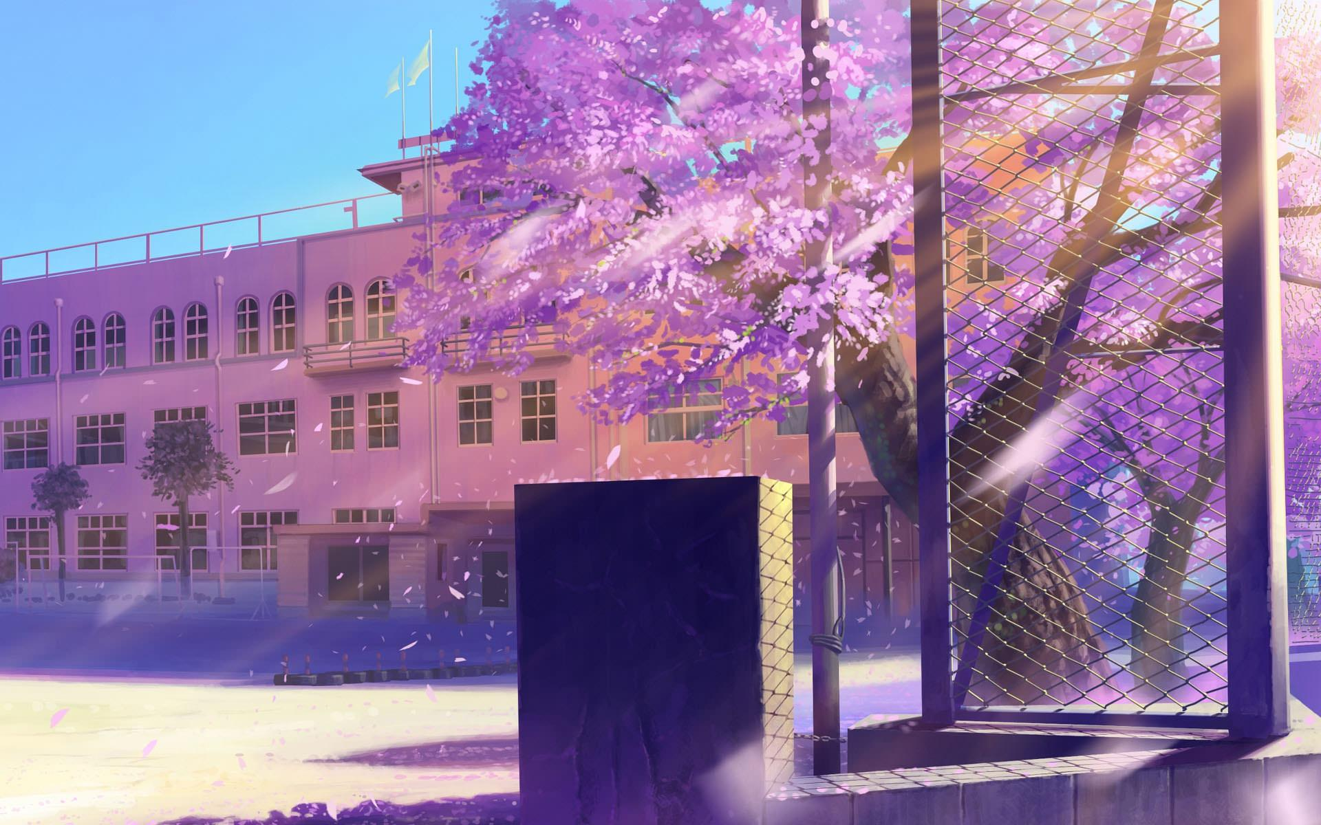 Anime School Architecture Hd Wallpaper Hd Latest Wallpapers