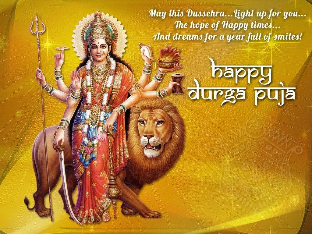 Happy durga puja-Wishes greetings Happy Dussehra wallpaper-Happy ...