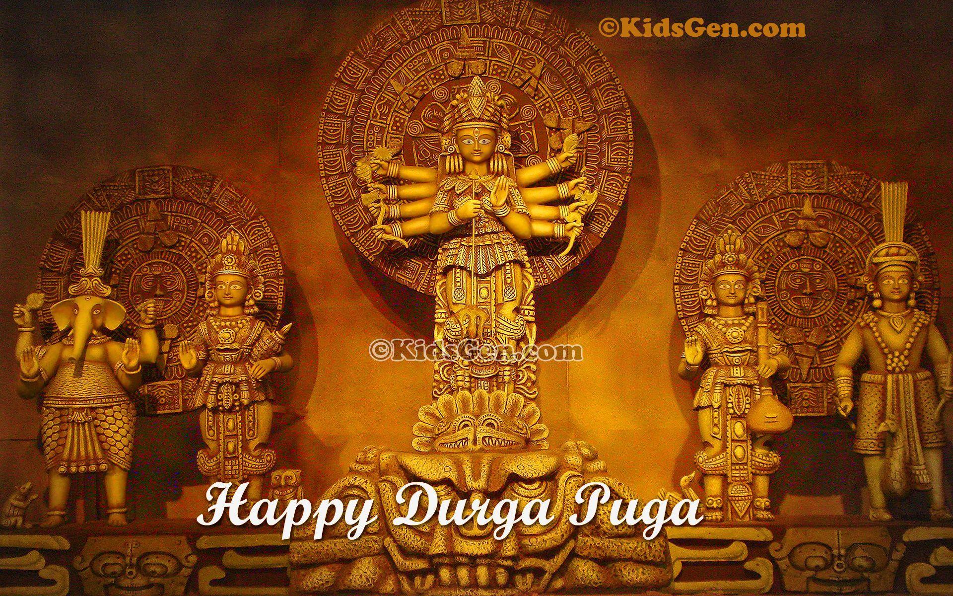 Happy Durga Puja Wallpapers Wallpaper Cave