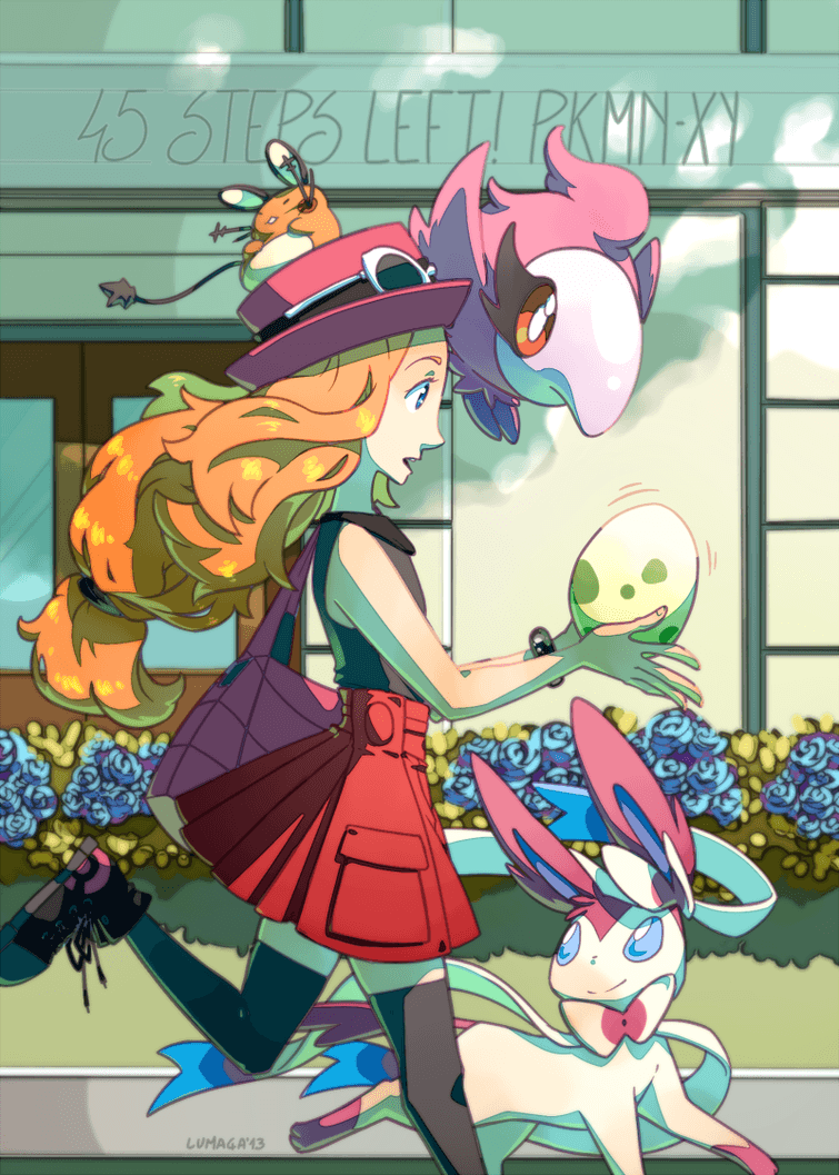 Egg-y anticipation! Cute girl Pokemon trainer waiting for her egg to ...