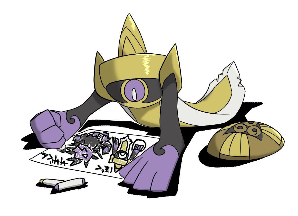 Aegislash drawing a picture