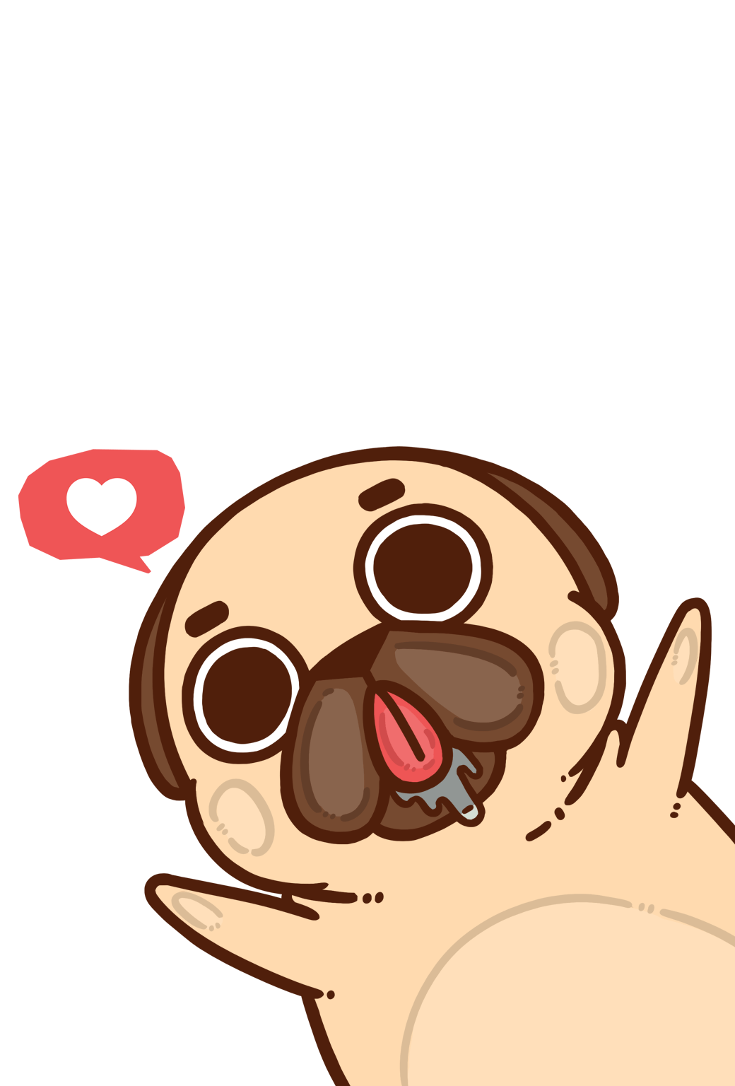 Puglie Pug — Download an iPhone or Android wallpaper here!