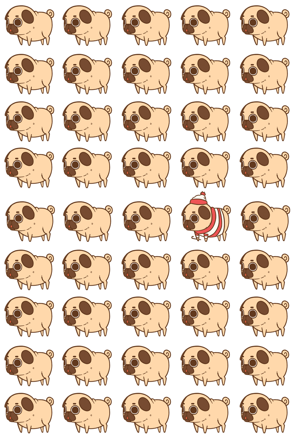 Puglie Pug — Puglie Wallpaper Master Post! Android - iPhone 5.
