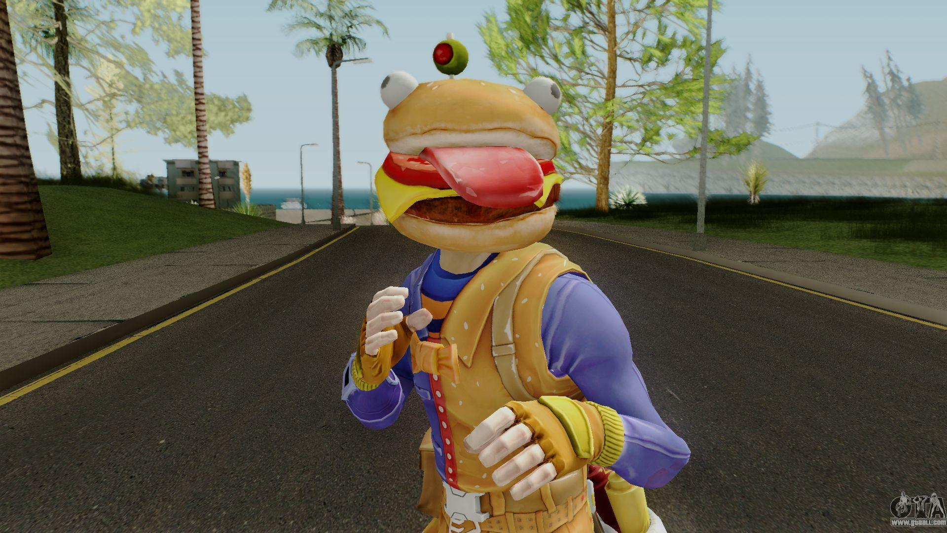 Fortnite Beef Boss Durrburger Hero for GTA San Andreas