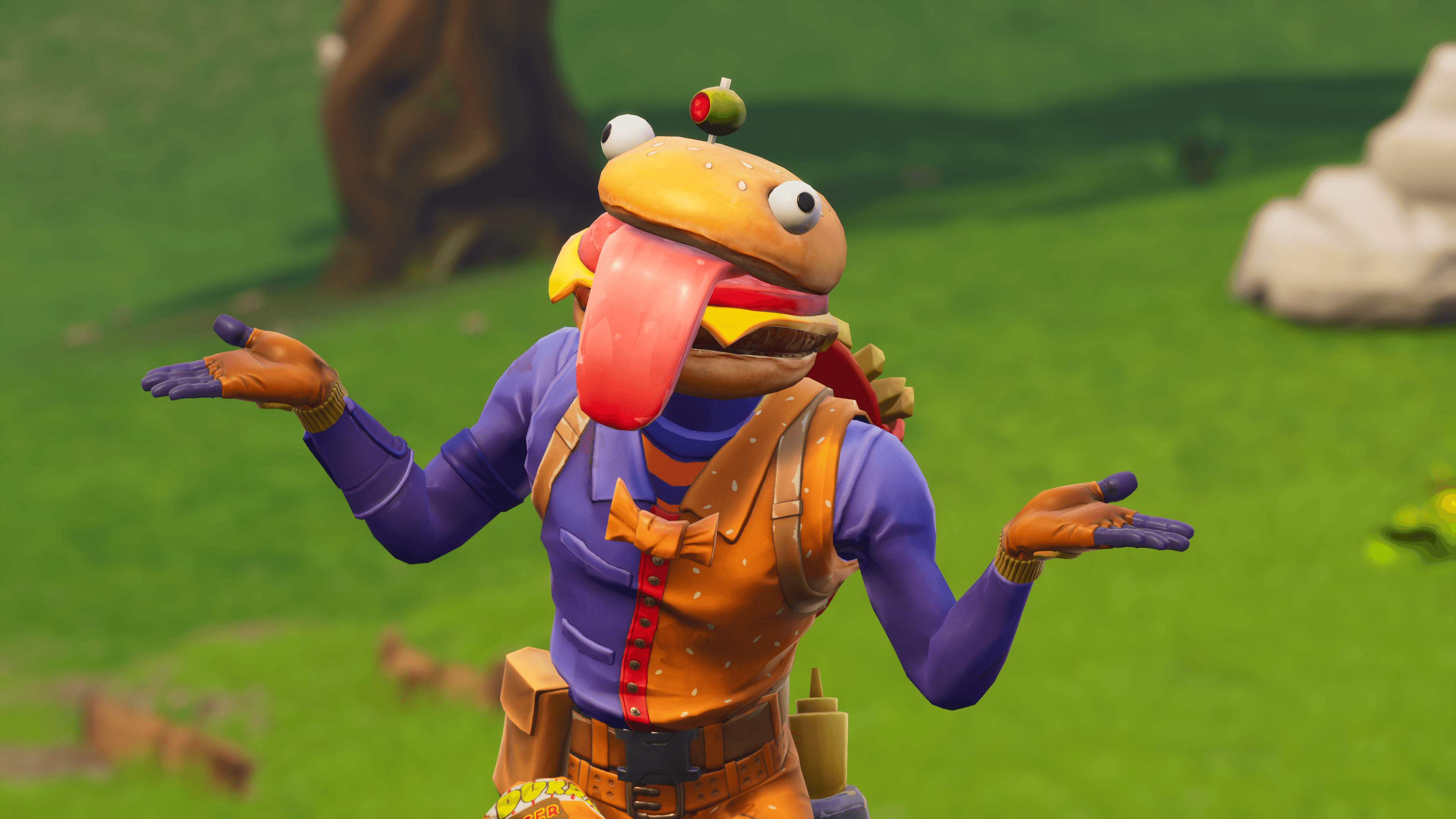 4k wallpaper of Beef Boss and the new emote. : FortNiteBR