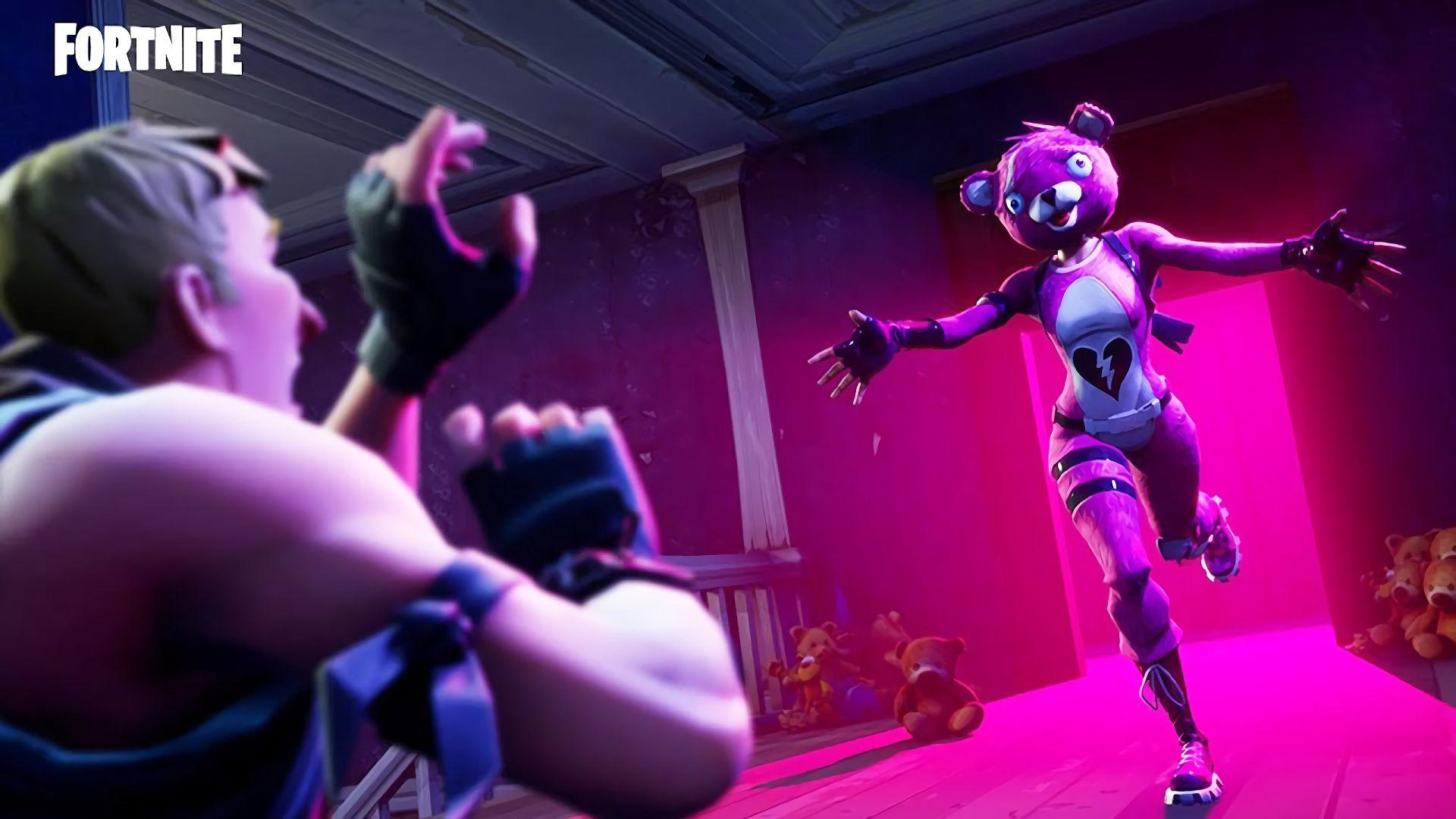 Fortnite Pink Bear Skin Wallpaper 63893 1920x1080px