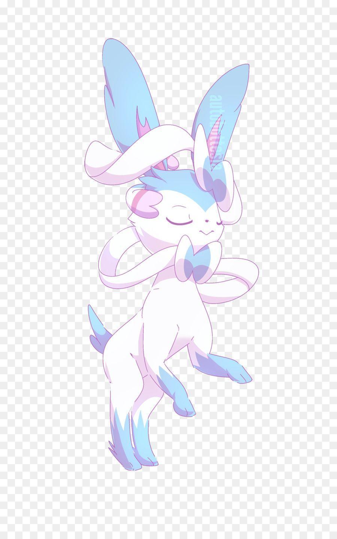 Sylveon Rabbit Desktop Wallpaper Eevee Shiny