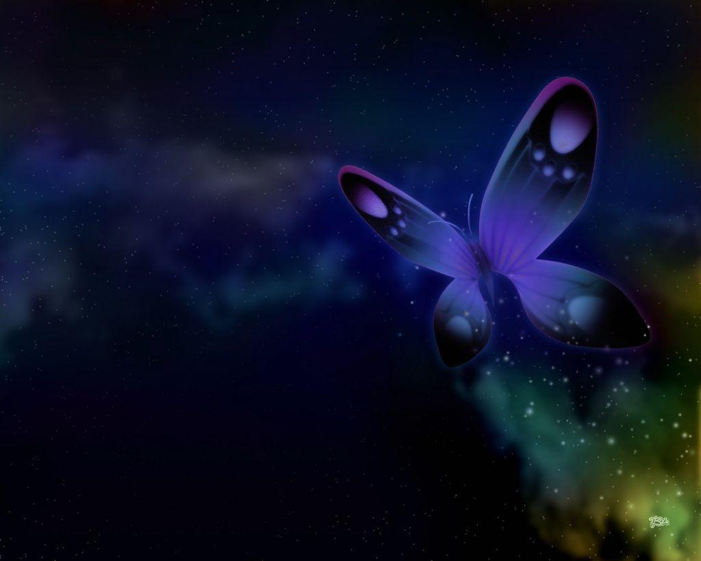 Animal Anime Butterfly Purple Free Puter 114716 Wallpaper
