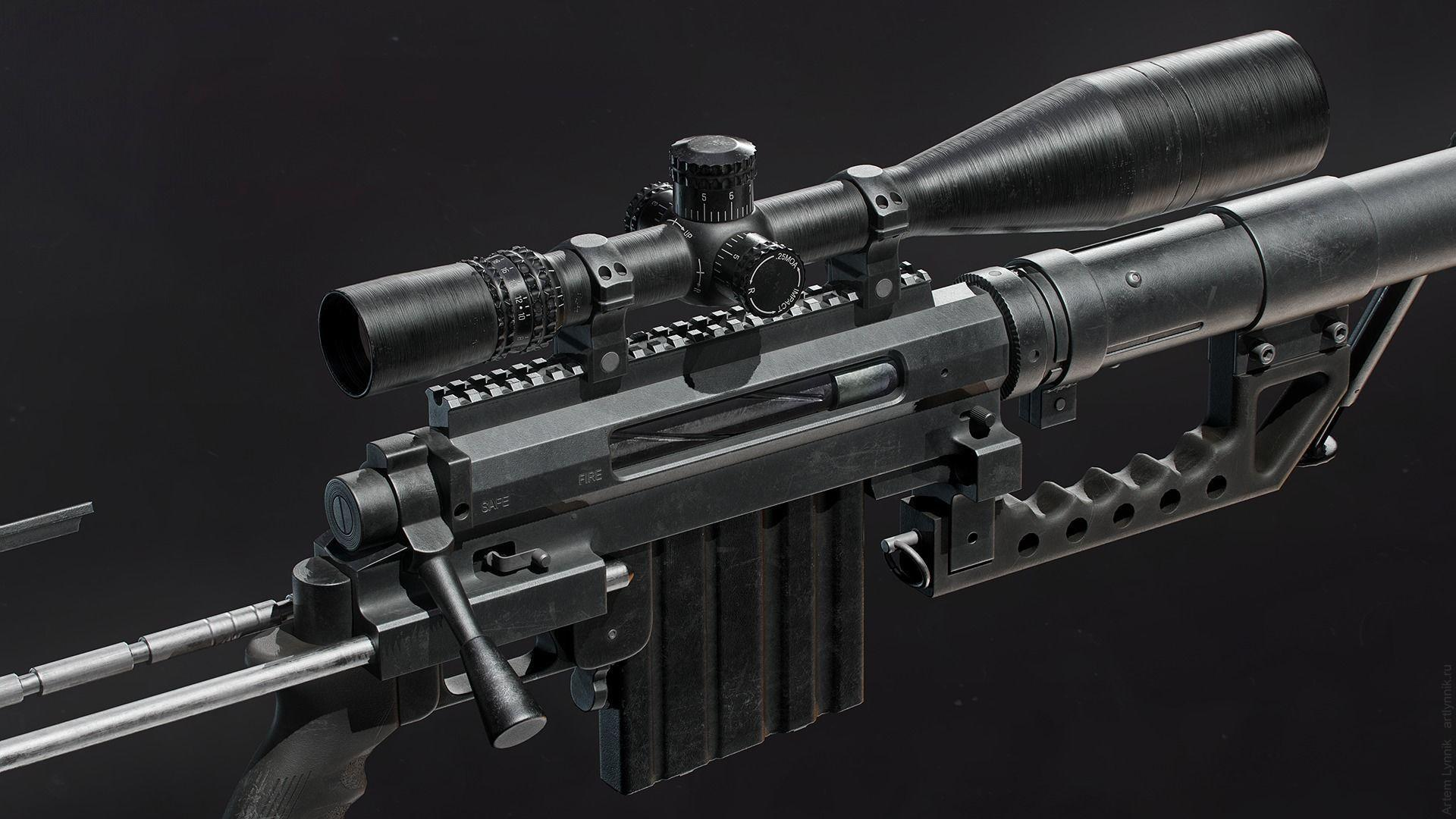 Intervention Sniper Rifle Wallpapers - Wallpaper Cave