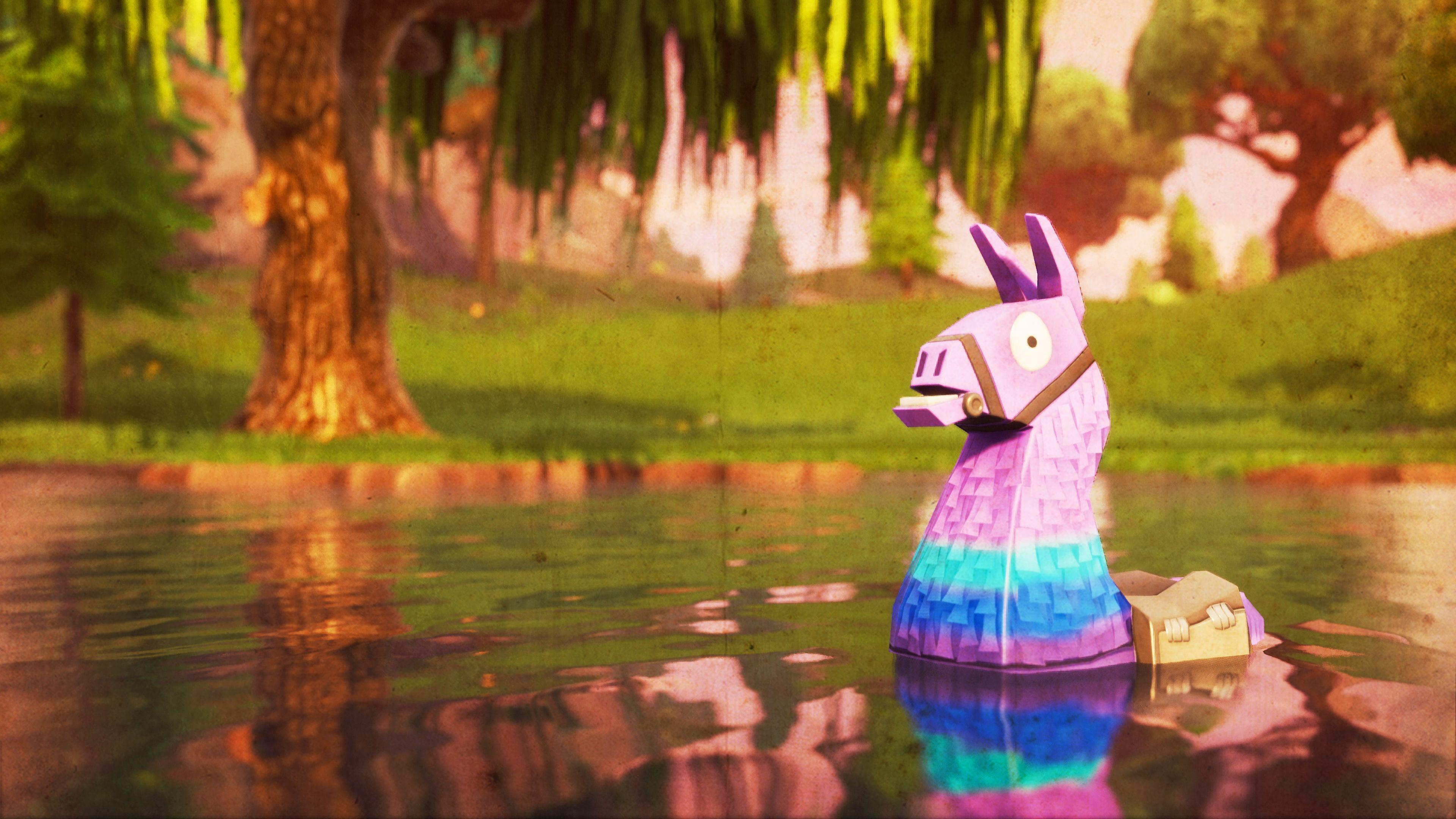 llama, Fortnite Battle Royale, Video Game, 3840x2160, Wallpapers