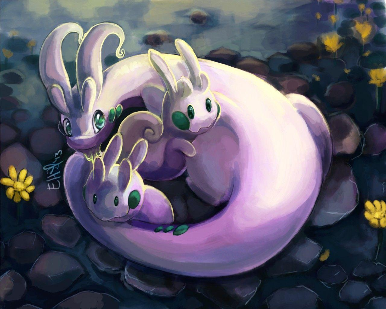 Goomy, Sliggoo & Goodra by artpaca -- Fur Affinity [dot] net