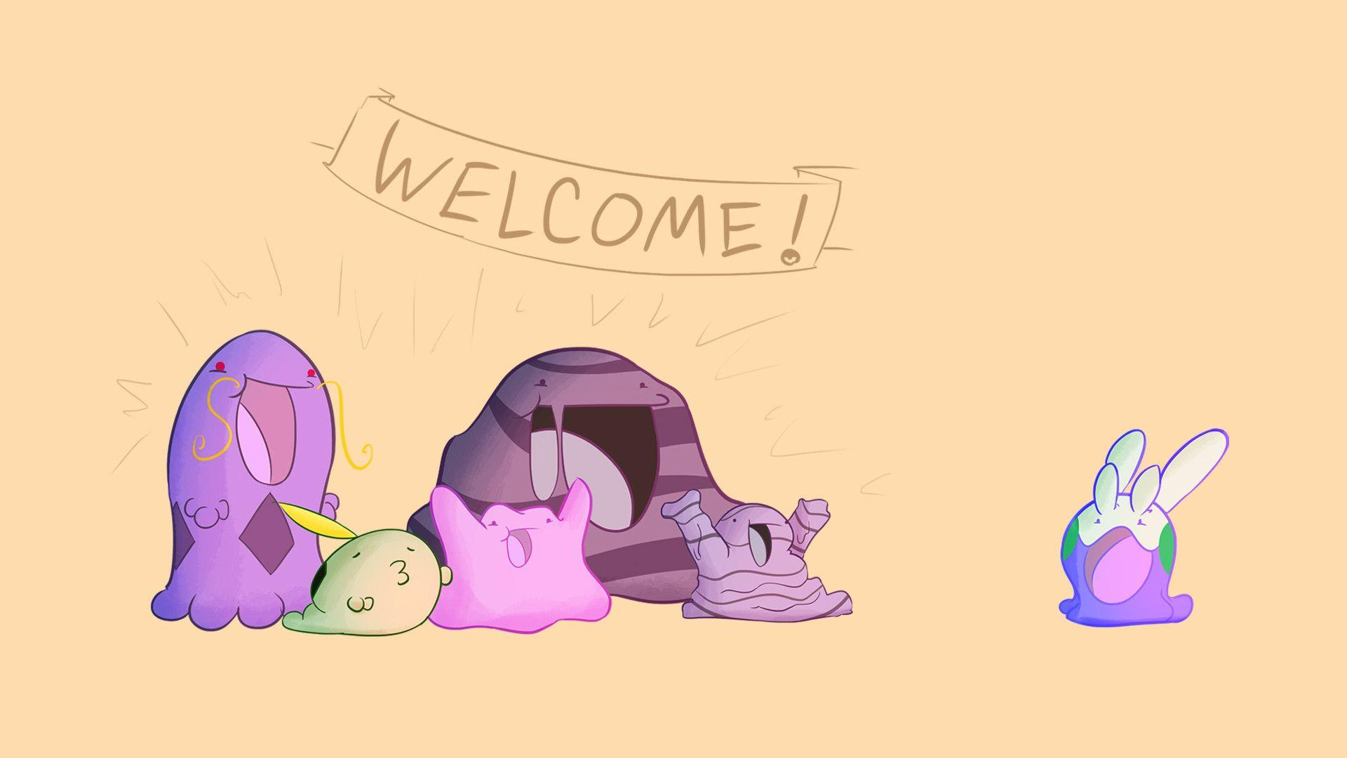 With all the Goomy love here, I thought I'd draw the welcoming party ...