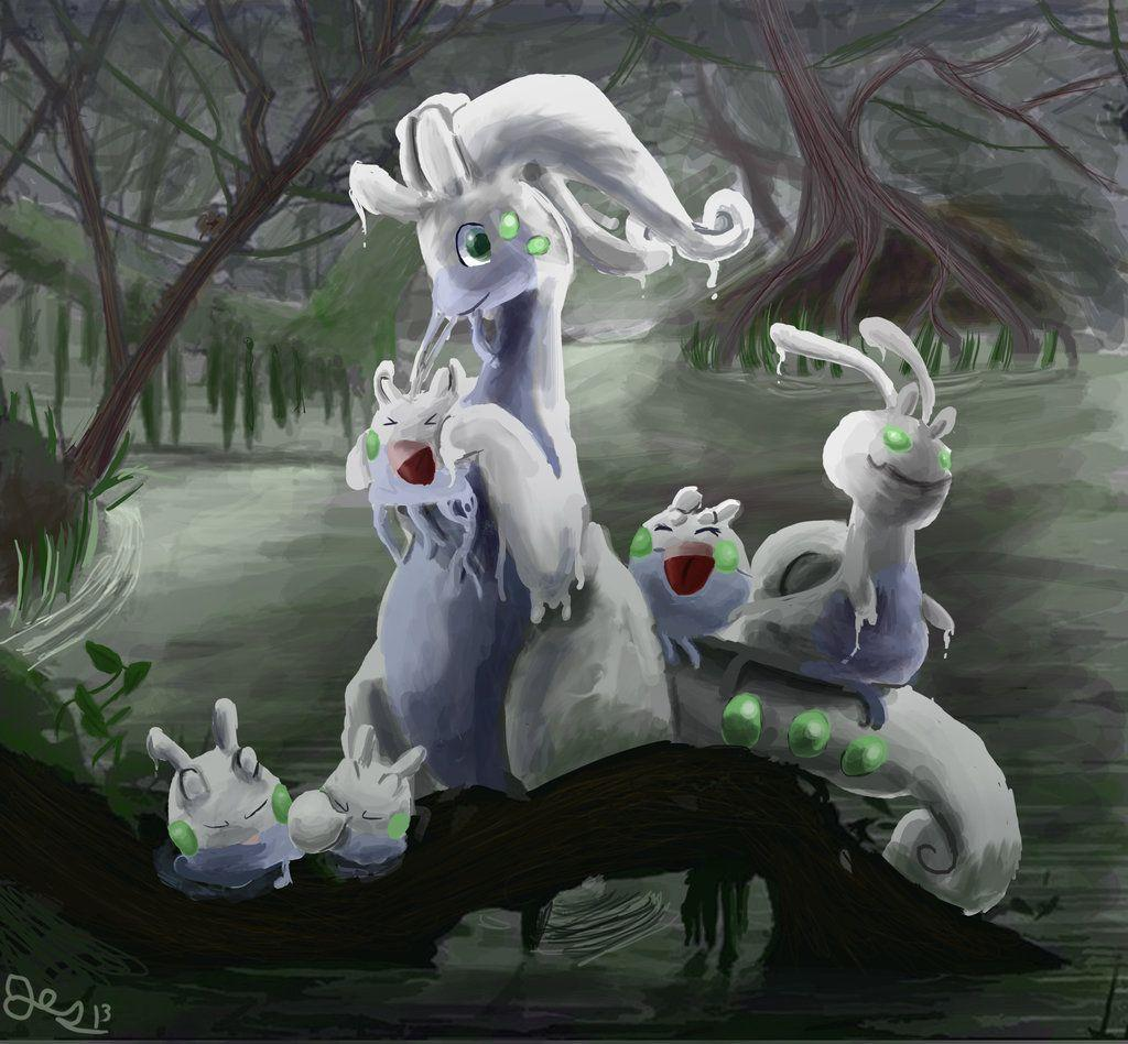 Pokemon of the day Gen 6! Goomy! Sliggoo! Goodra! Rained alot today ...