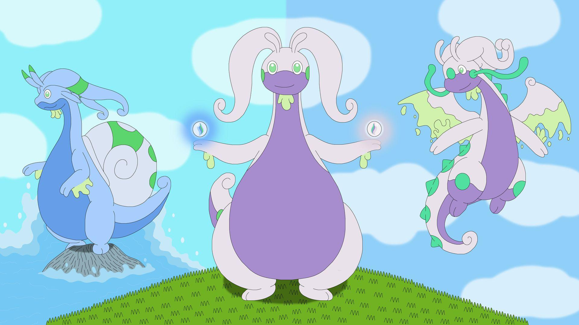 1920x1080 goodra, pokemon desktop wallpaper 40375