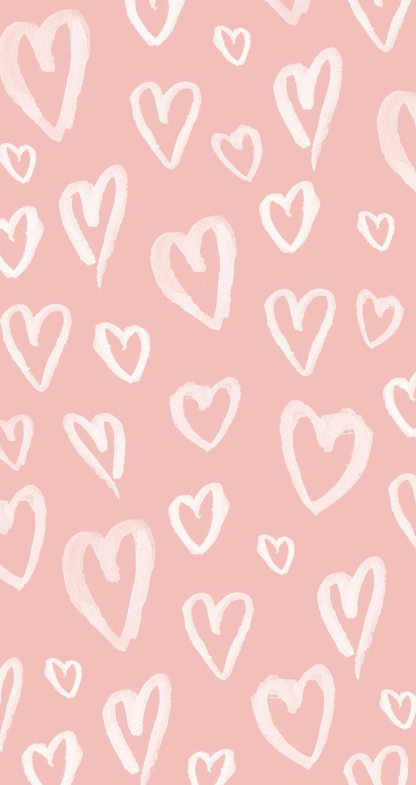 Pastel Pink Hearts iPhone Wallpapers @PanPins