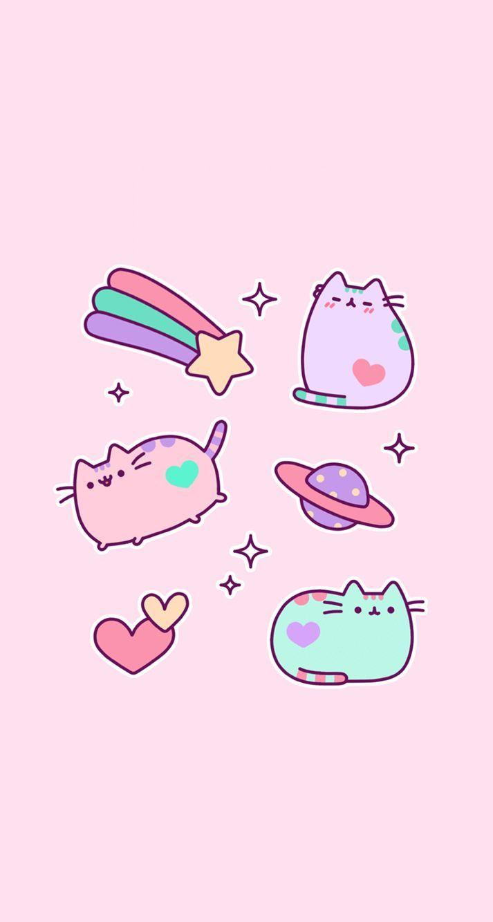 Pink Pastel kawaii iPhone wallpapers