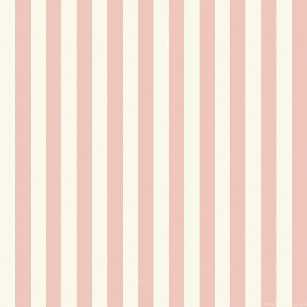 The Wallpapers Company 56 Sq. Ft. Pink Pastel Slender Stripe
