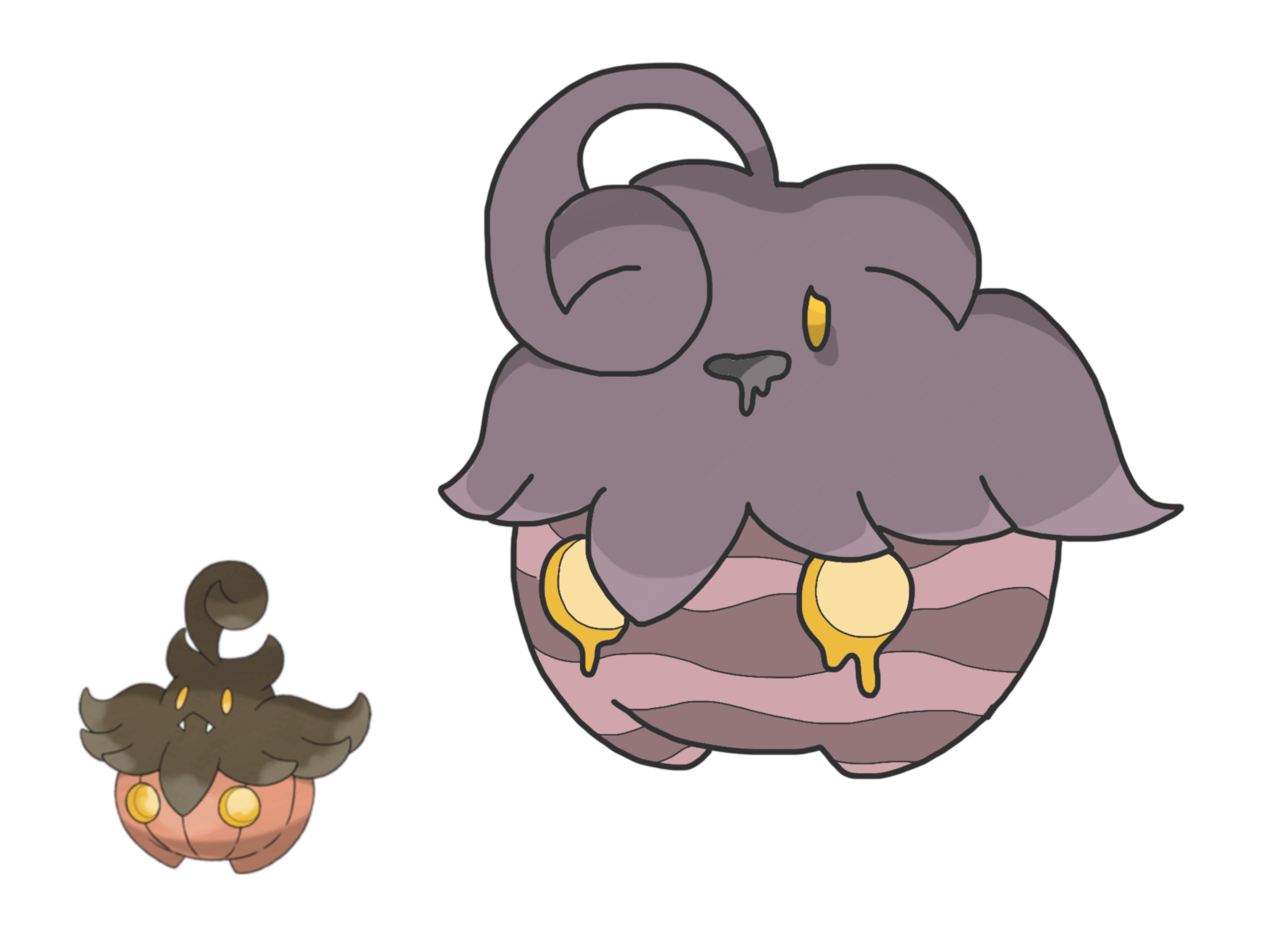 I made a Pumpkaboo variant based on a Pumpkaboo breeding with a