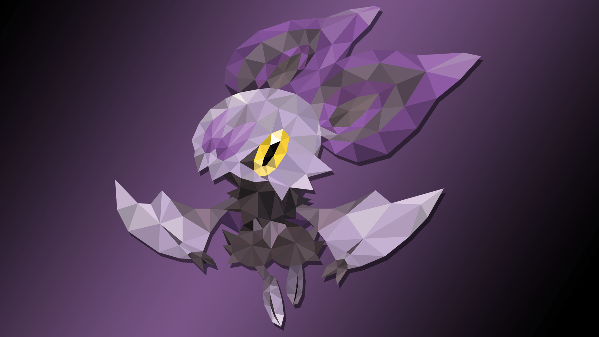 Polygon Art of Noibat | By NirthPanter by NirthPanter on DeviantArt