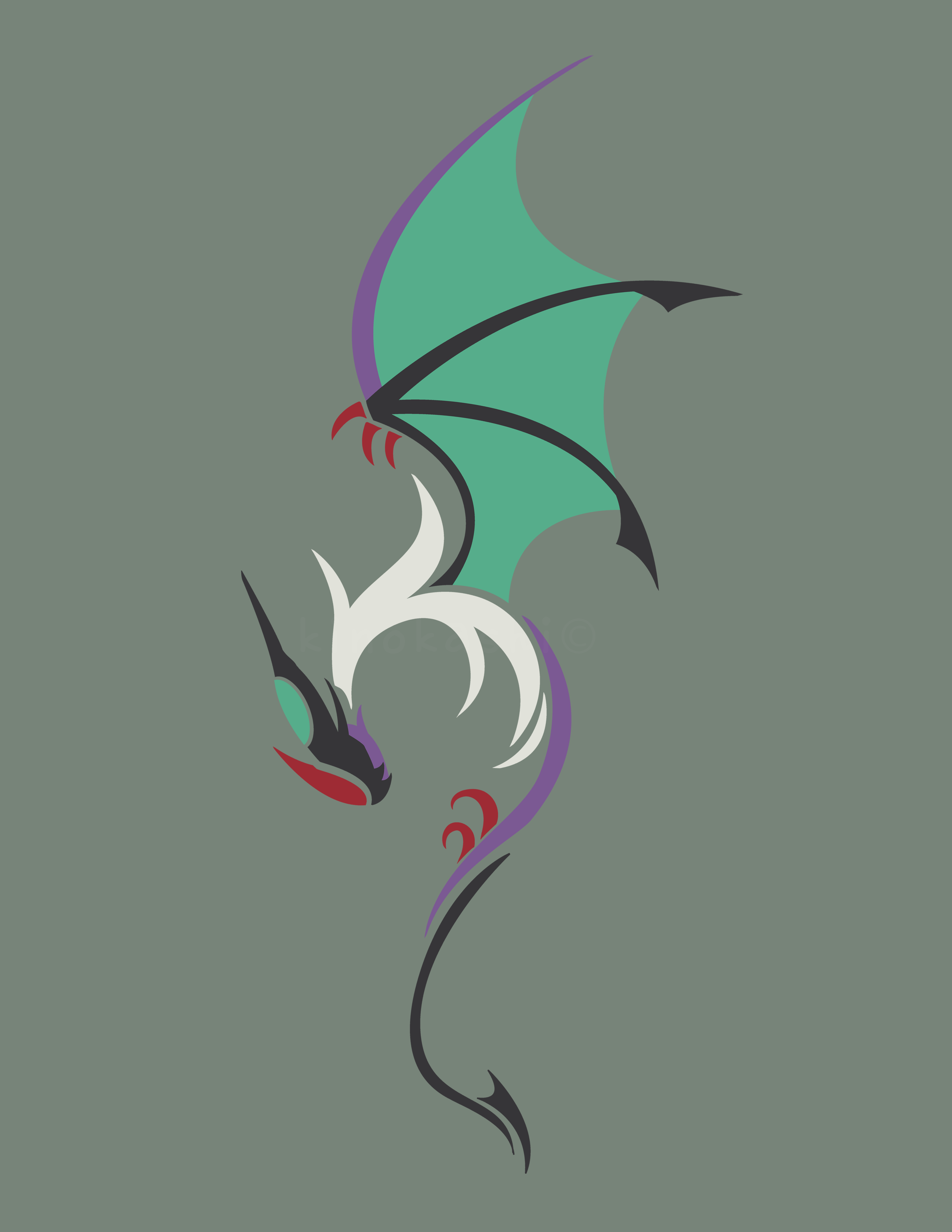Noivern Design from my Rare Candy design Set. [OC] : pokemon