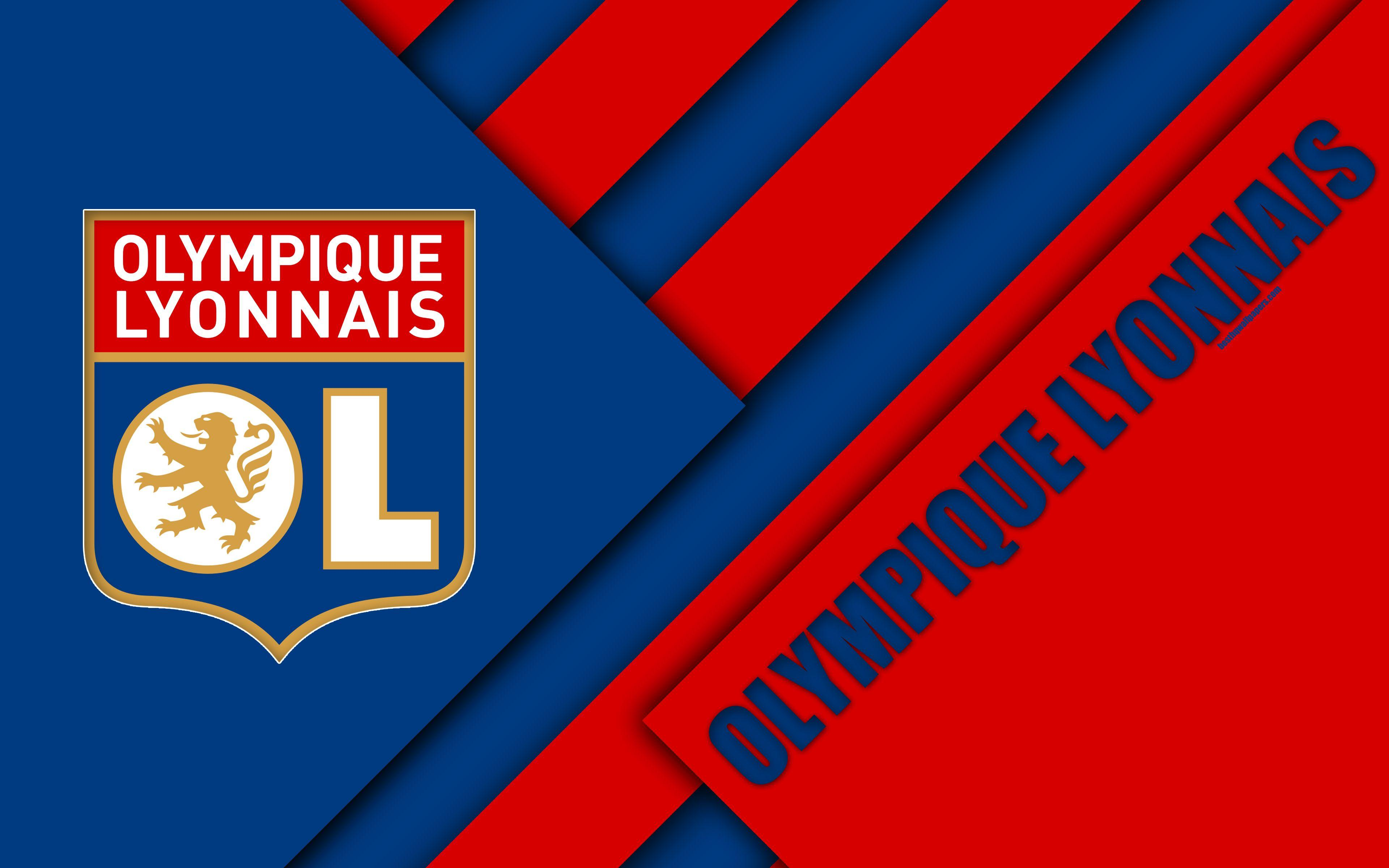 Download wallpapers Olympique Lyonnais, French football club, Lyon