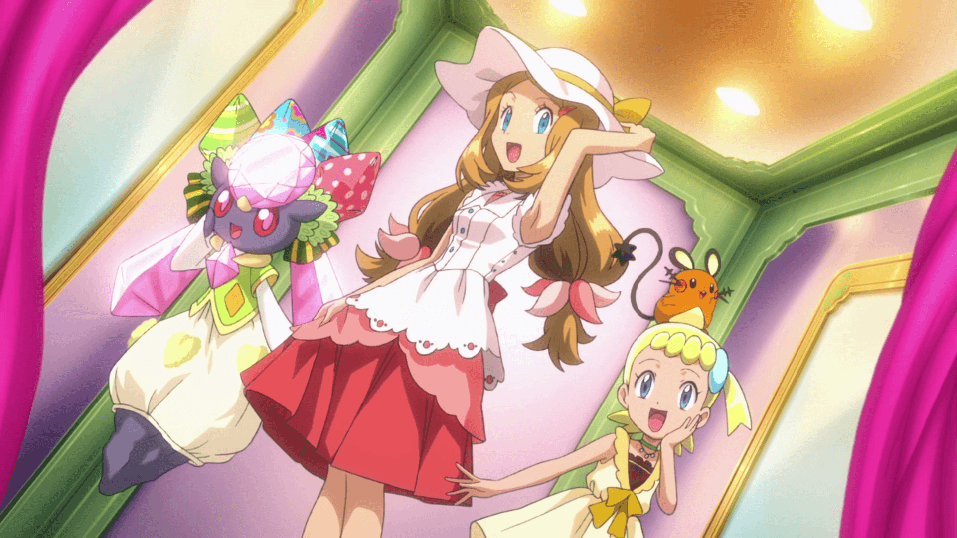 Image - Serena, Bonnie and Diancie outfits 2.png | Pokémon Wiki ...