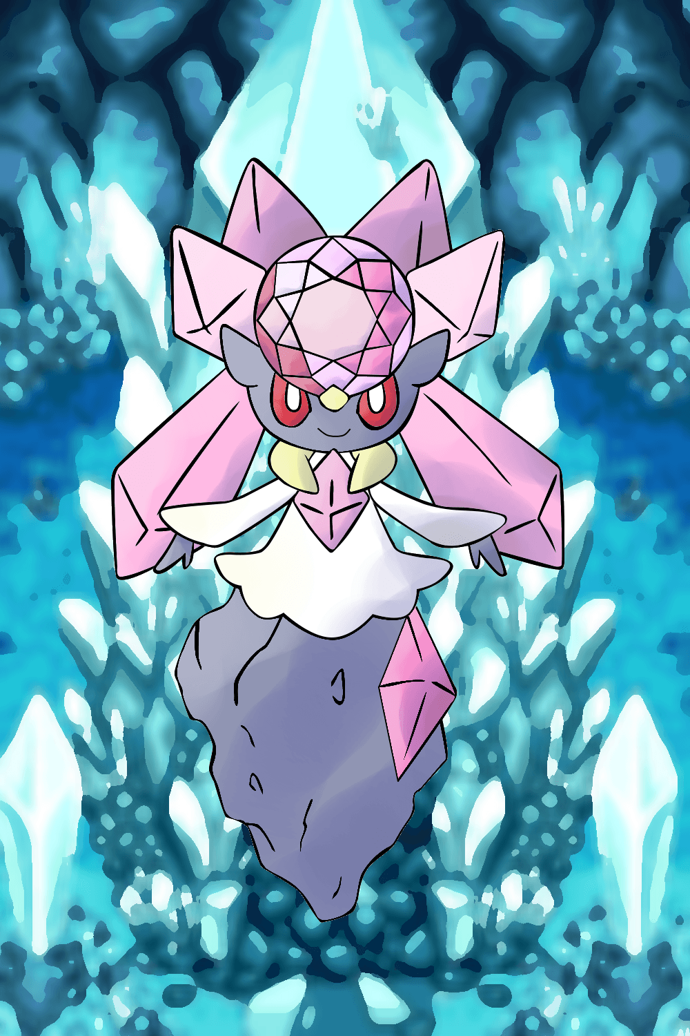 Diancie In Crystal Cave by fakemon123