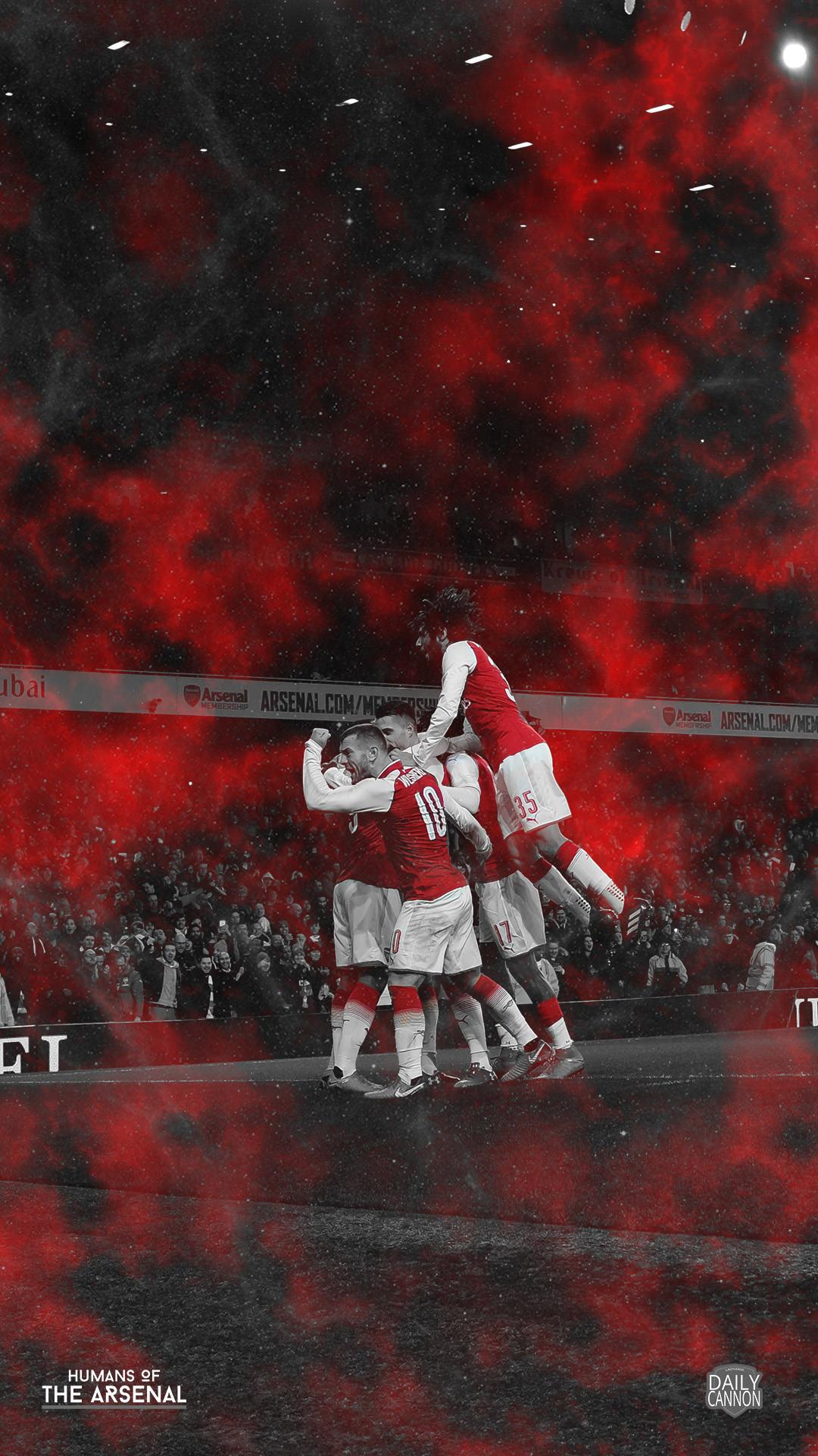 Amazing Arsenal phone wallpapers collaboration with Humans Of The