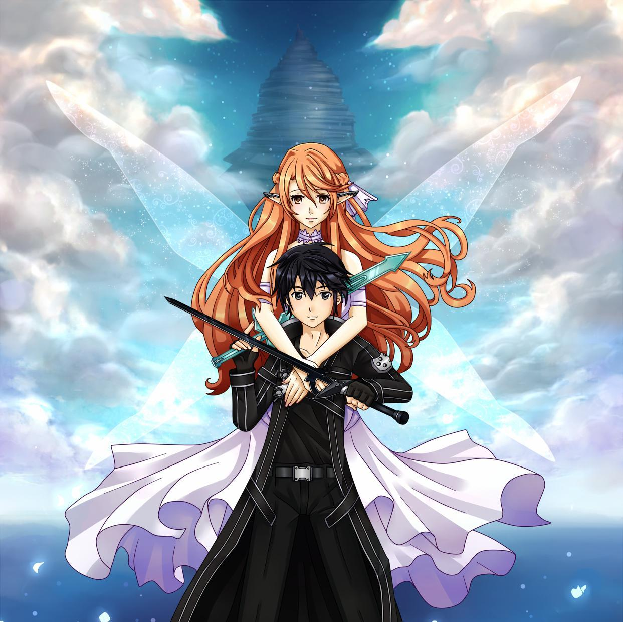 Foto Kirito Dan Asuna kirito and asuna wallpapers - wallpaper cave