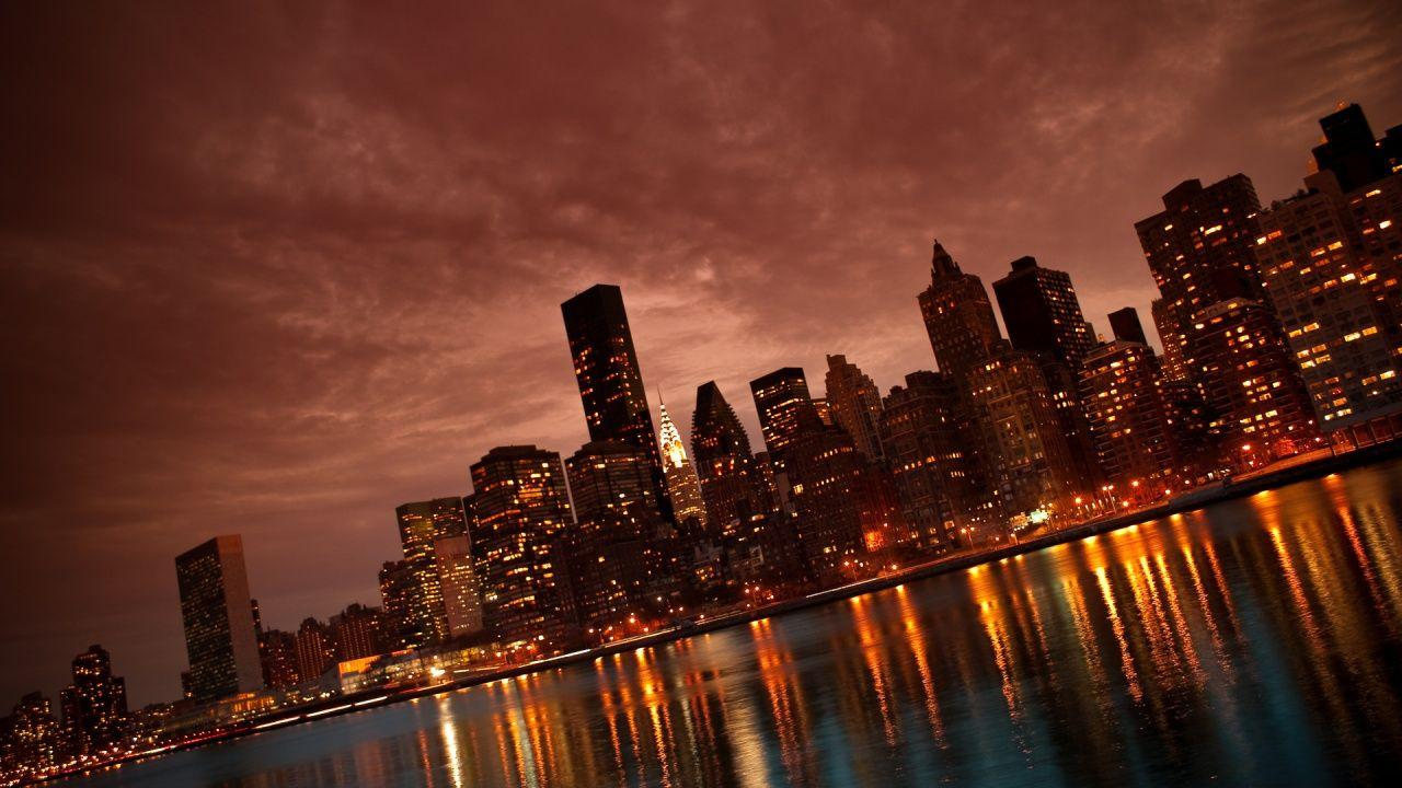 Manhattan NYC Reflections Wallpapers in jpg format for free download