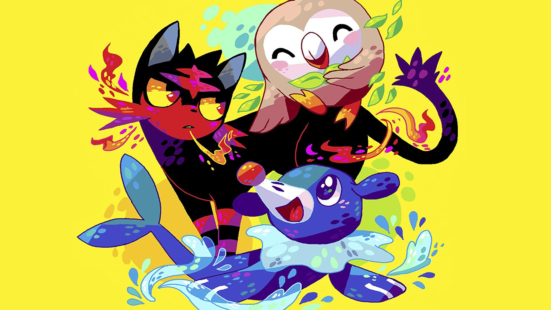 Litten Popplio and Rowlet Pokemon Su... Wallpaper #14802