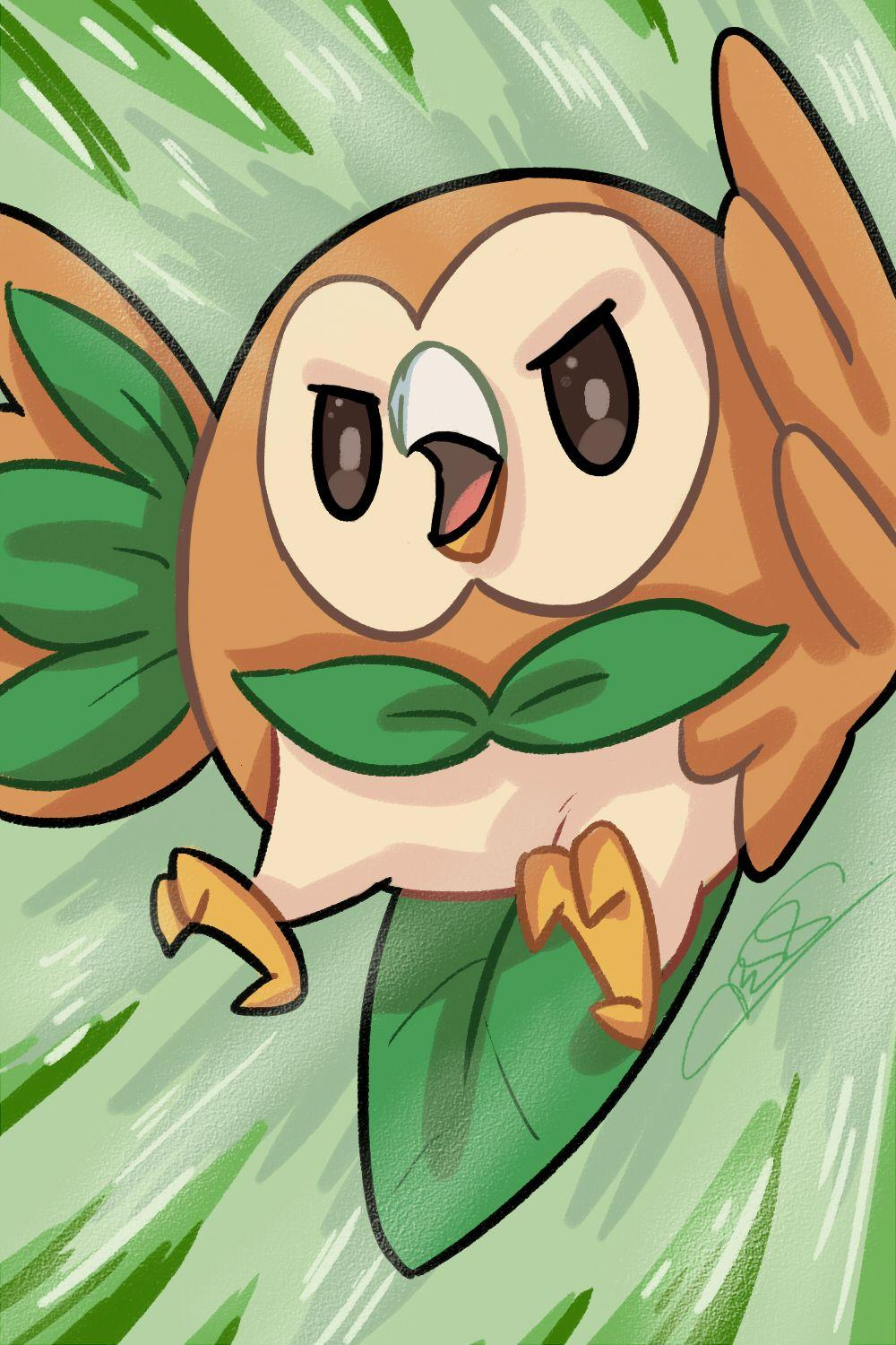 POKEMON - Rowlet by taitsujin on DeviantArt