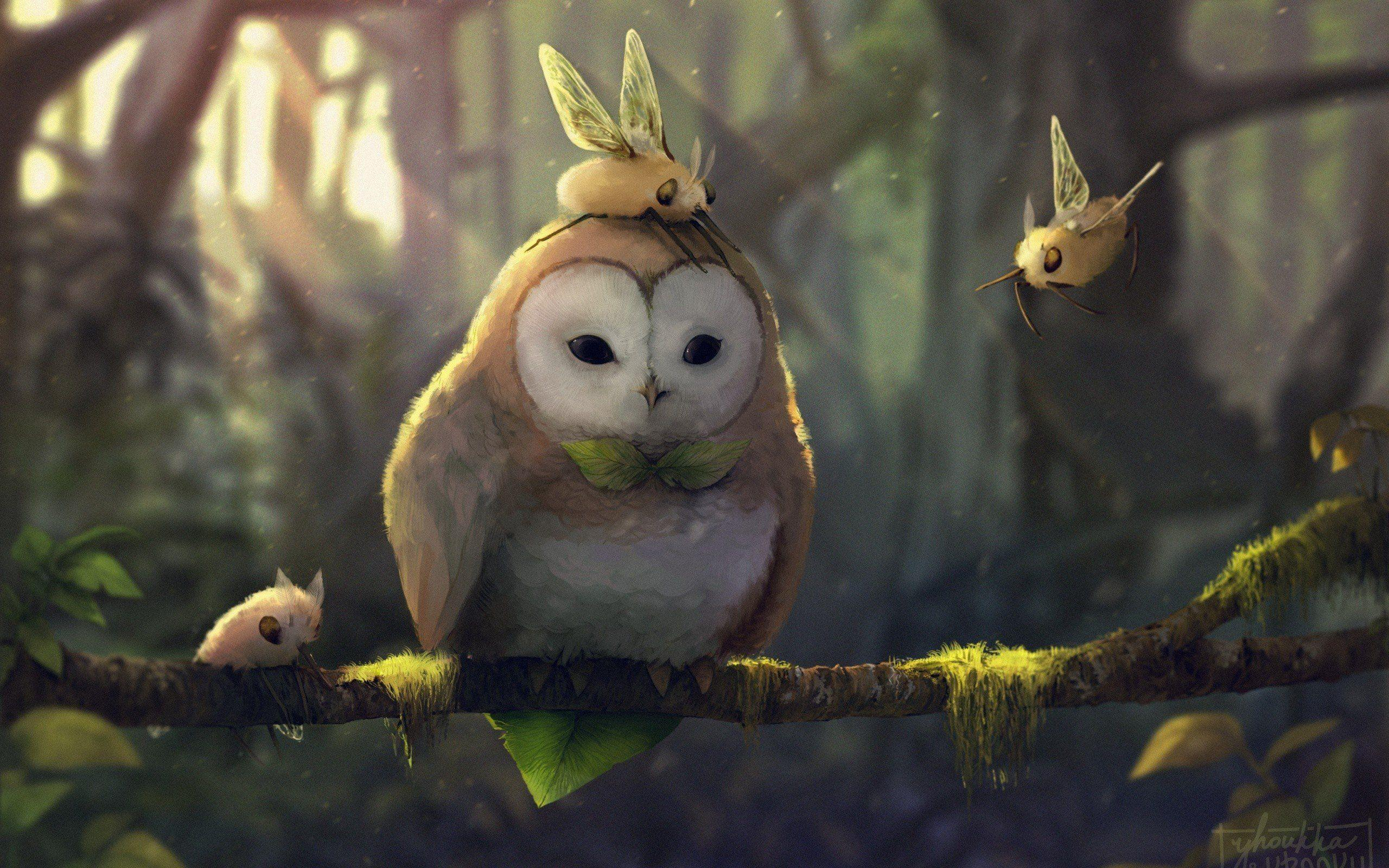 fantasy art, Artwork, Pokémon, Rowlet (Pokémon), Cutiefly (pokemon ...