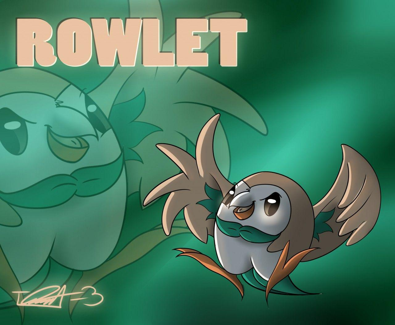 Digital = Rowlet Wallpaper by treecko-kun -- Fur Affinity [dot] net