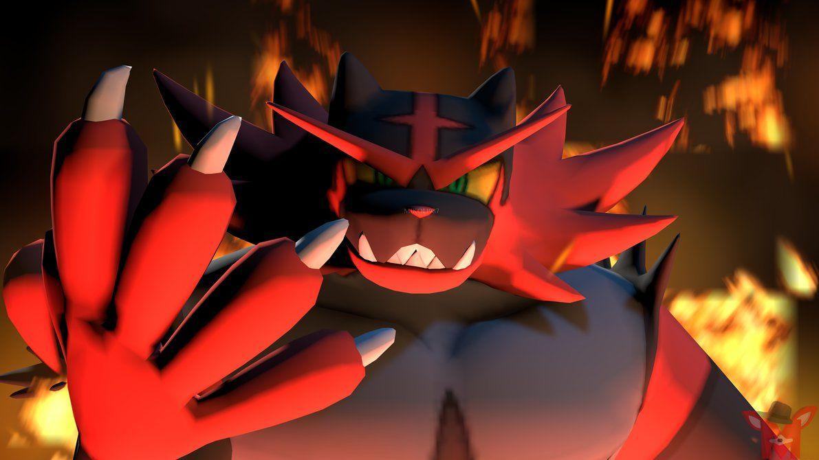 Pokemon SFM: Incineroar by Mikol1987