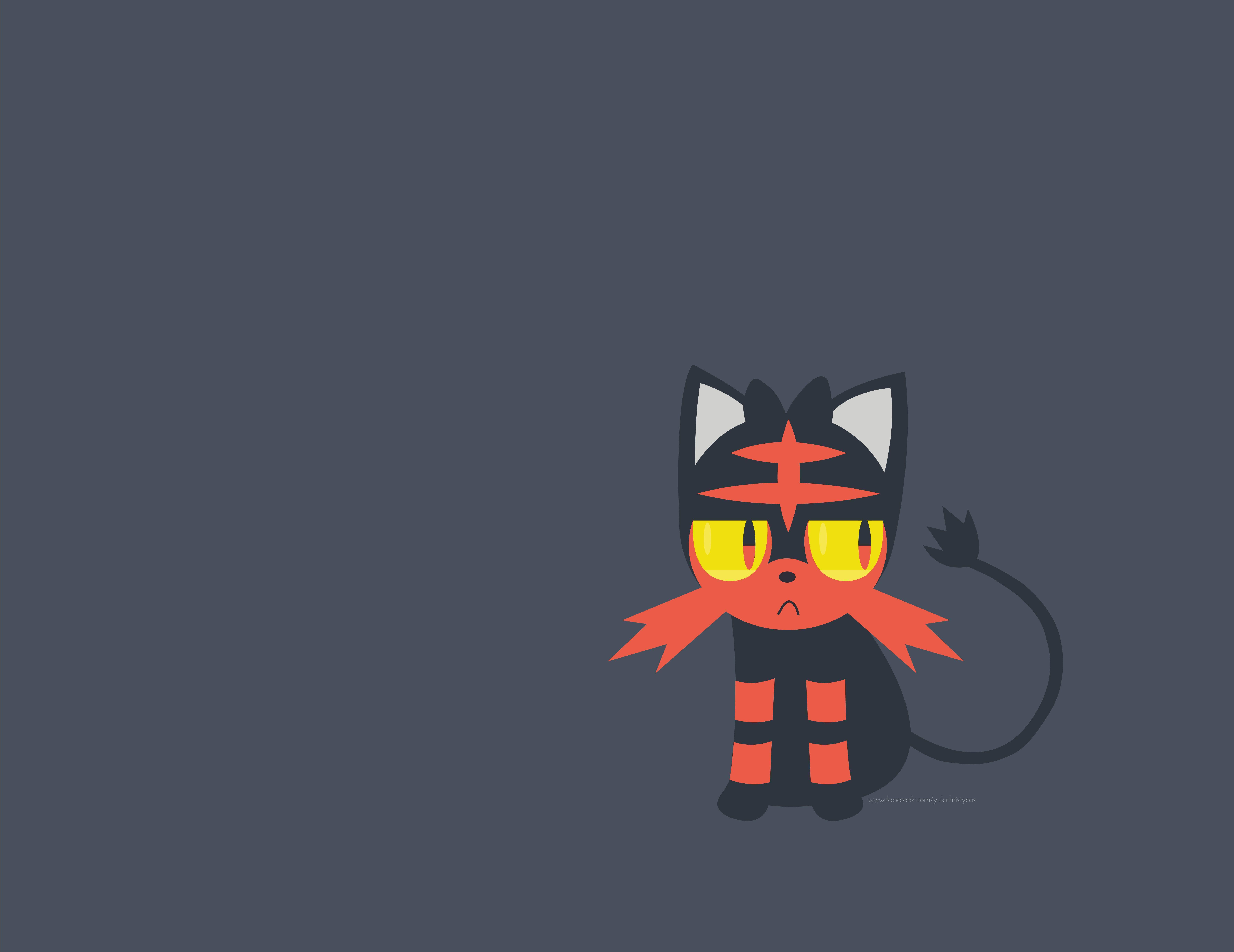 Pokemon Sun & Moon - Litten Wallpaper : pokemon