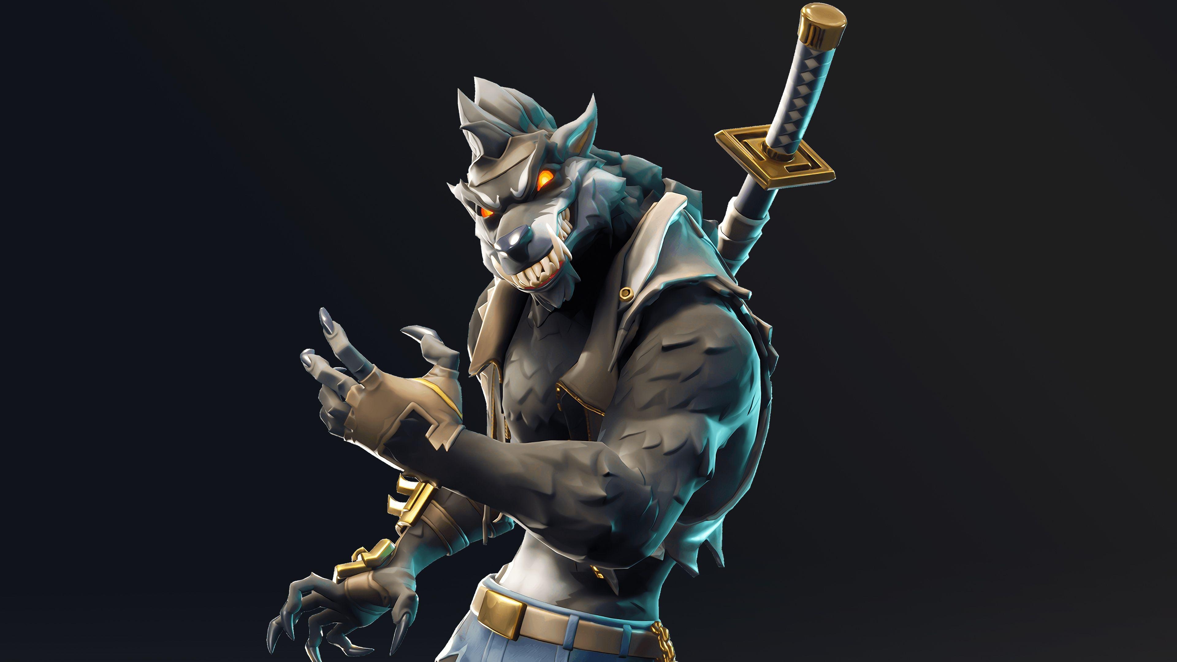 Dire Werewolf Fortnite Battle Royale Season 6 Skin Wallpapers