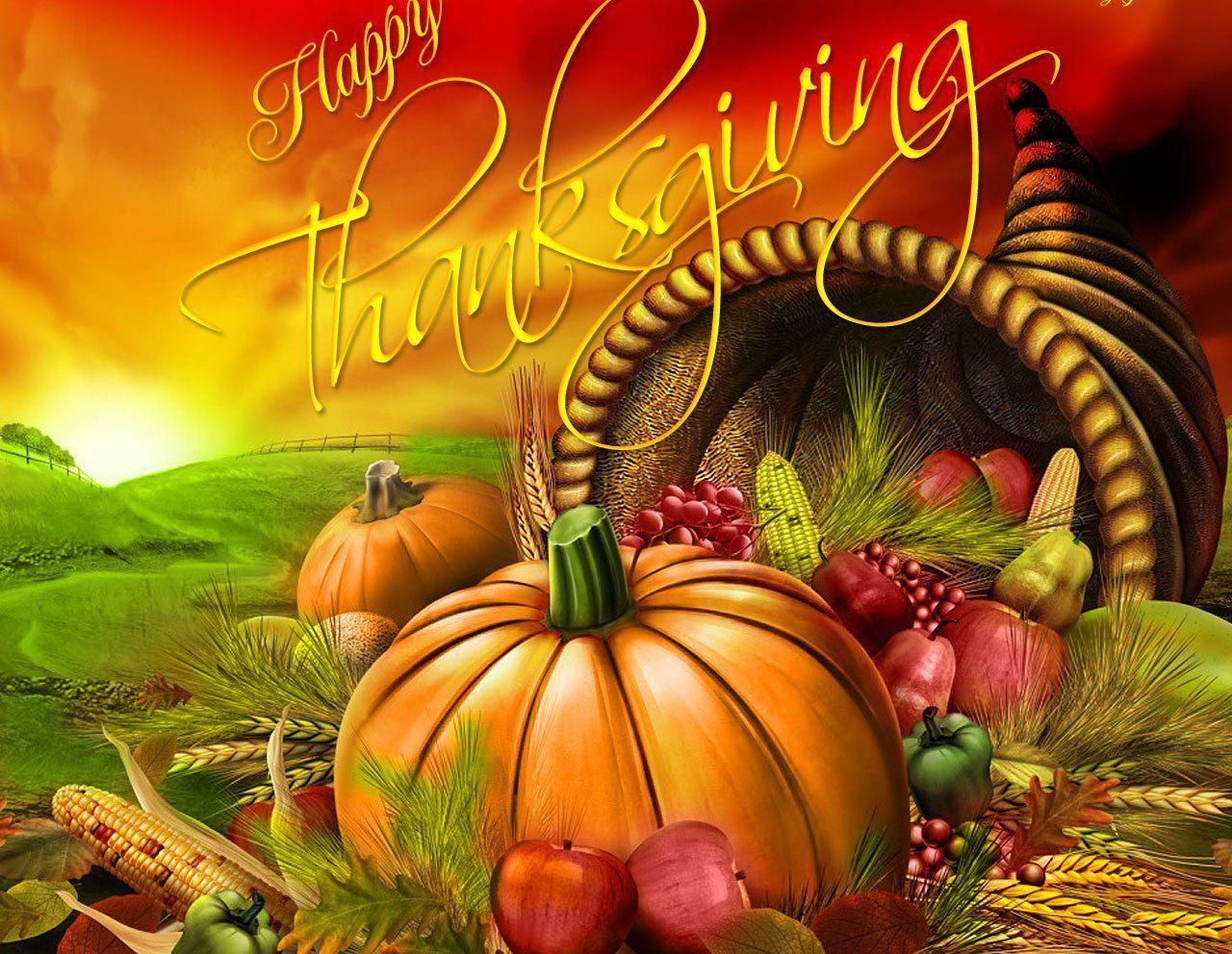 Happy Thanksgiving Day Pumpkin Background Latest Hd Photos