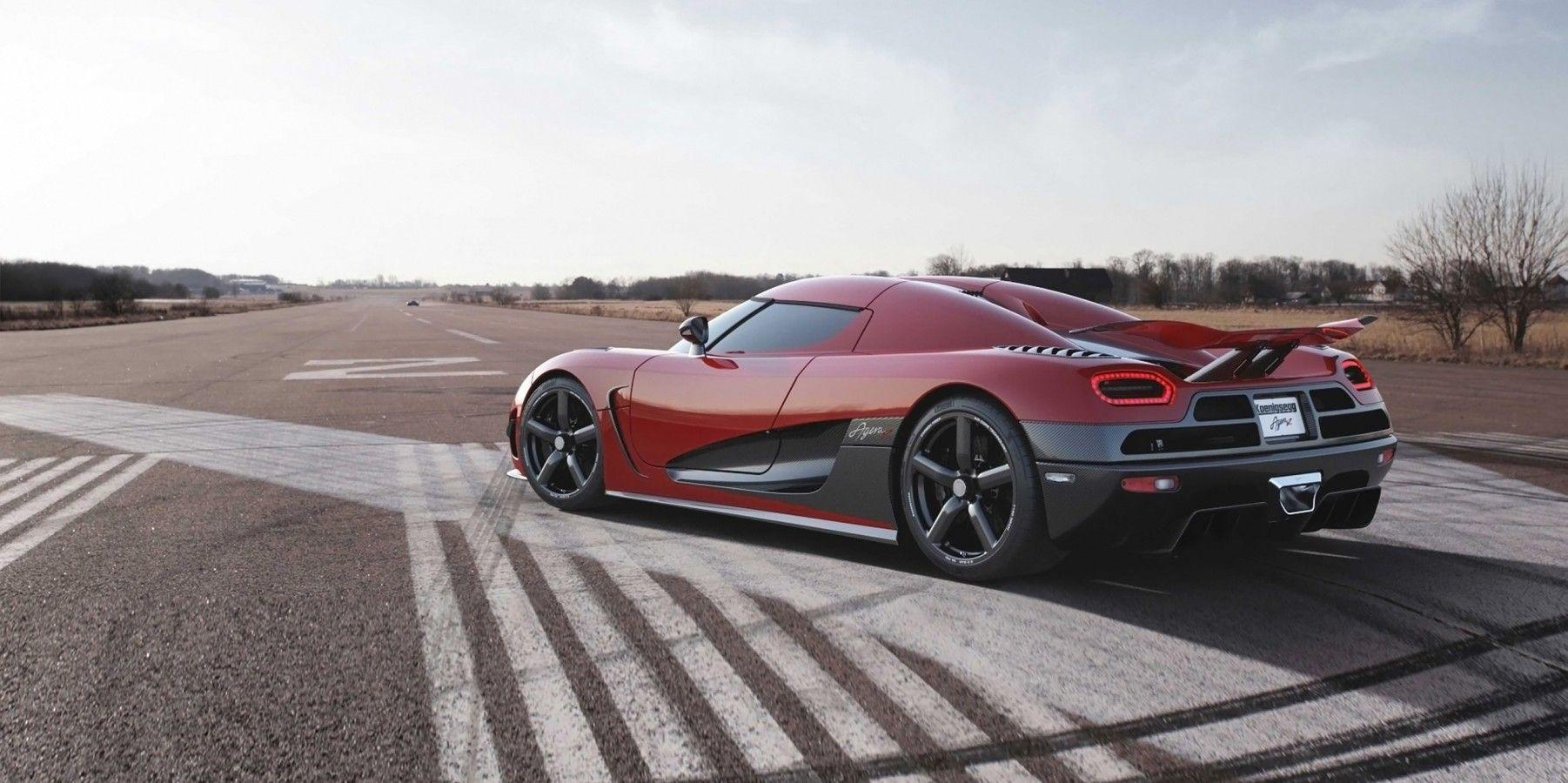 Download 1802x900 Koenigsegg Agera R, Red, Side View, Sport, Cars